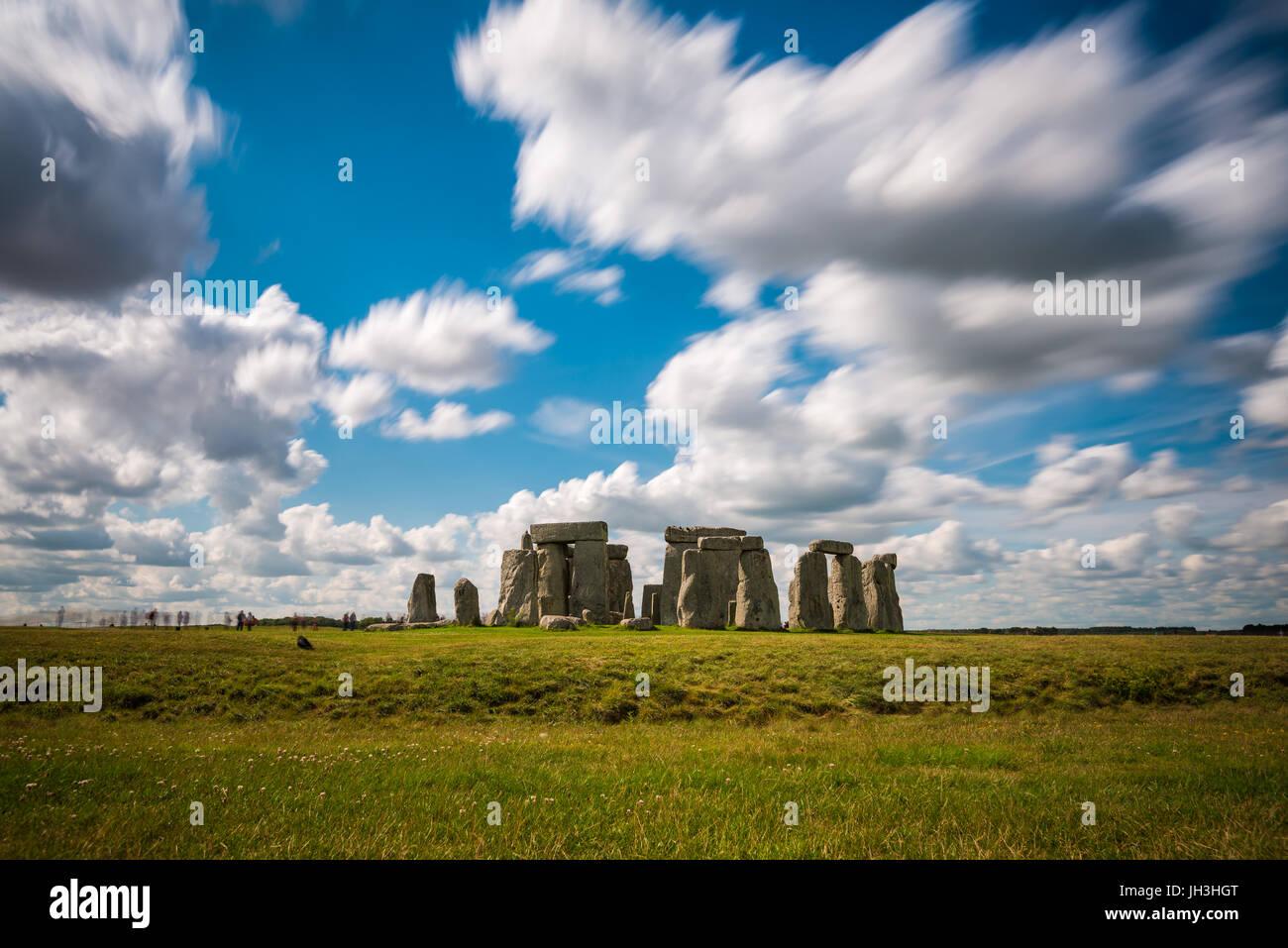 Stonehenge, Wiltshire, United Kingdom.The Ort und seine Umgebung wurden im Jahr 1986 UNESCO Liste des Weltkulturerbes Stockfoto