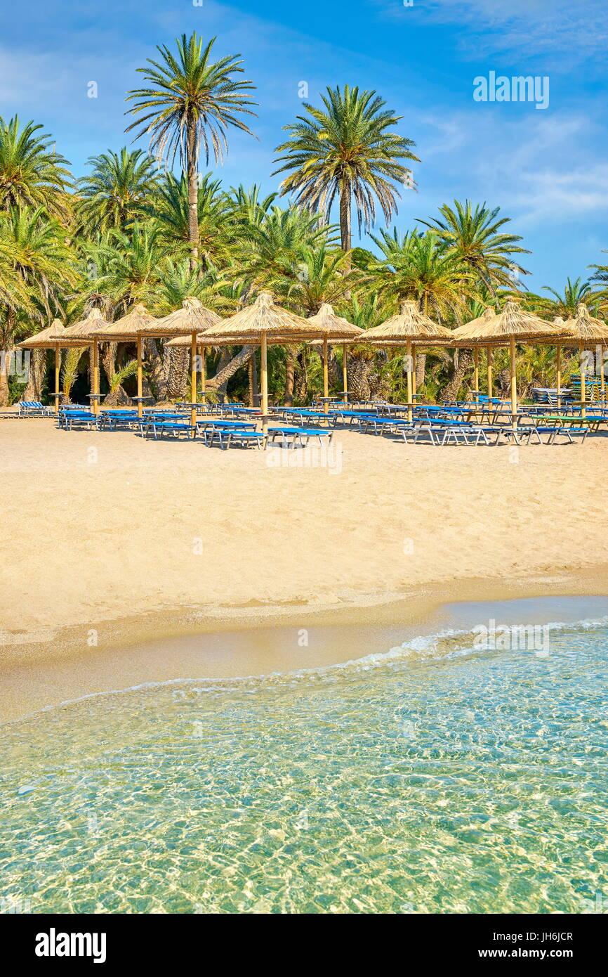 Vai Beach, Kreta, Griechenland Stockbild