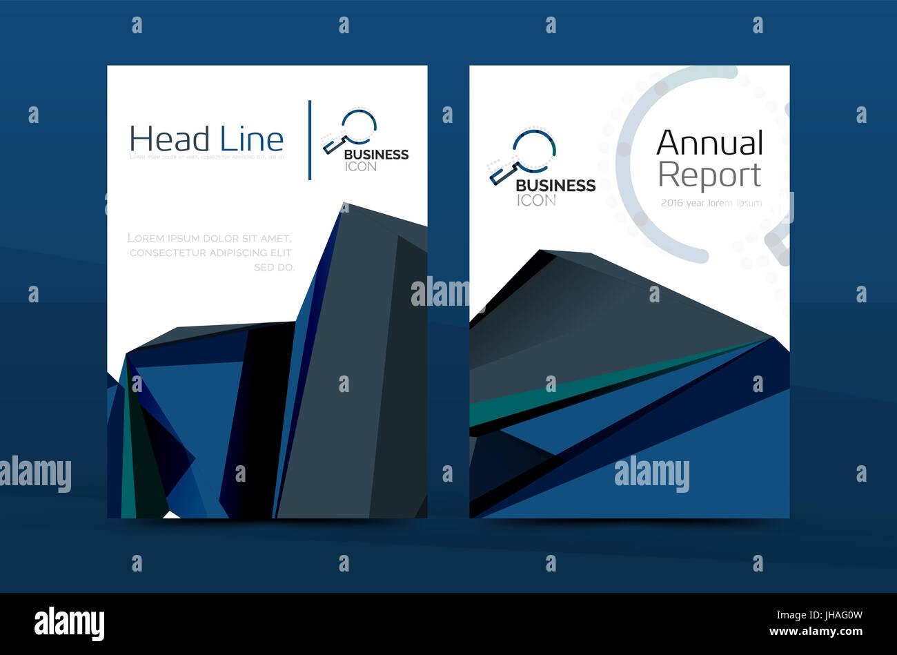 Geometrische A4 Titelseite Jährlichen Geschäftsbericht Drucken