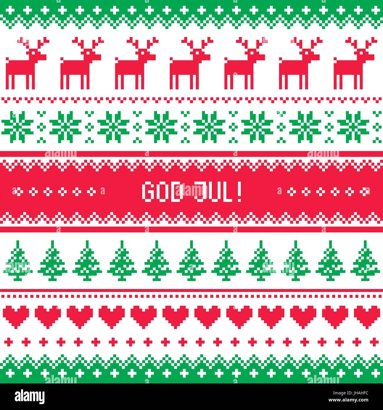 Frohe Weihnachten Schwedisch.Gott Jul Muster Frohe Weihnachten In Schwedisch Danisch