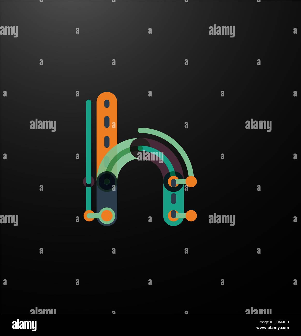 Firmenlogo Logo der Anfangsbuchstaben auf schwarz. Flache Cartoon ...