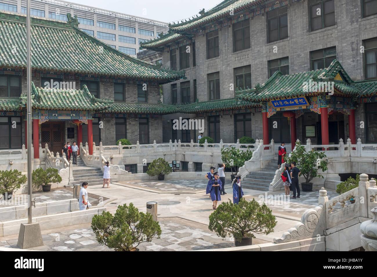 Peking Union Medical College Hospital wurde 1921 von Rockefeller-Stiftung gegründet. Stockbild