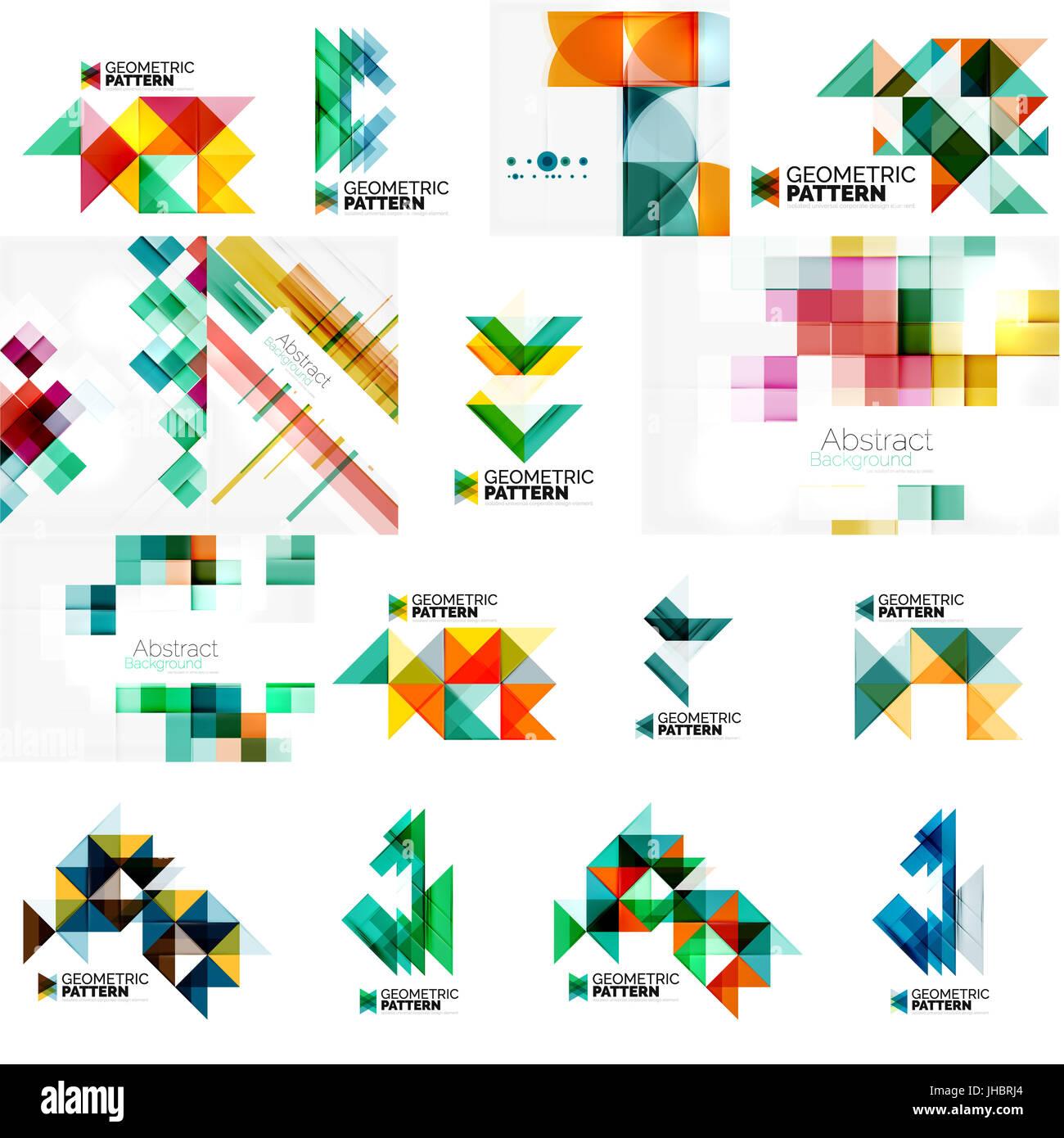 Reihe von verschiedenen universal geometrische Layout - Hintergründe ...