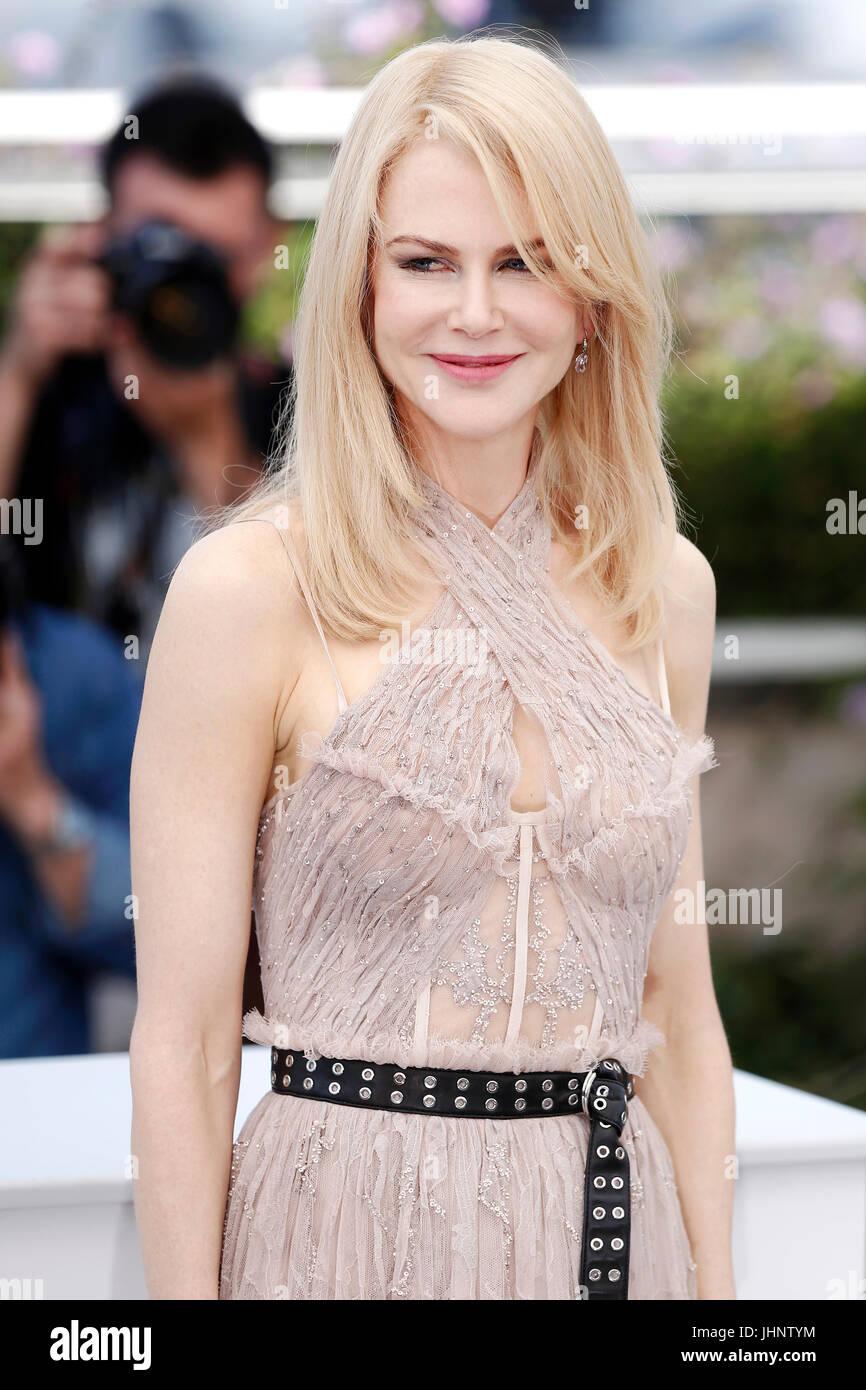 "CANNES, Frankreich - 24.Mai: Nicole Kidman besucht den Fototermin des Films ""The verführt"" während Stockbild"