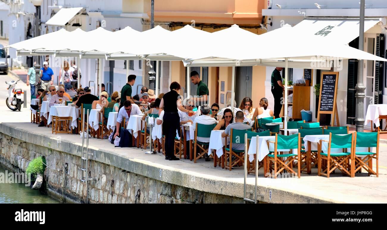Ciutadella Restaurant außerhalb Minorca Menorca Stockbild