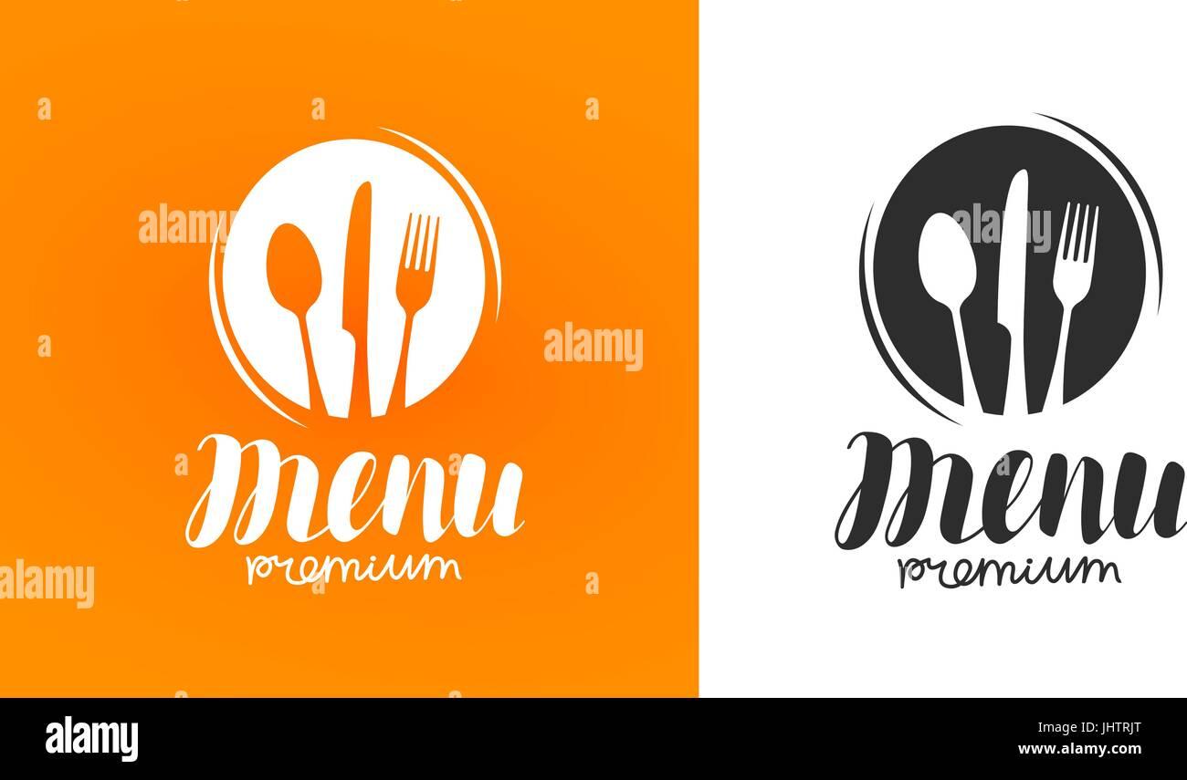 Kochen und Küche-Logo. Symbol und Beschriftung für Design-Menü ...