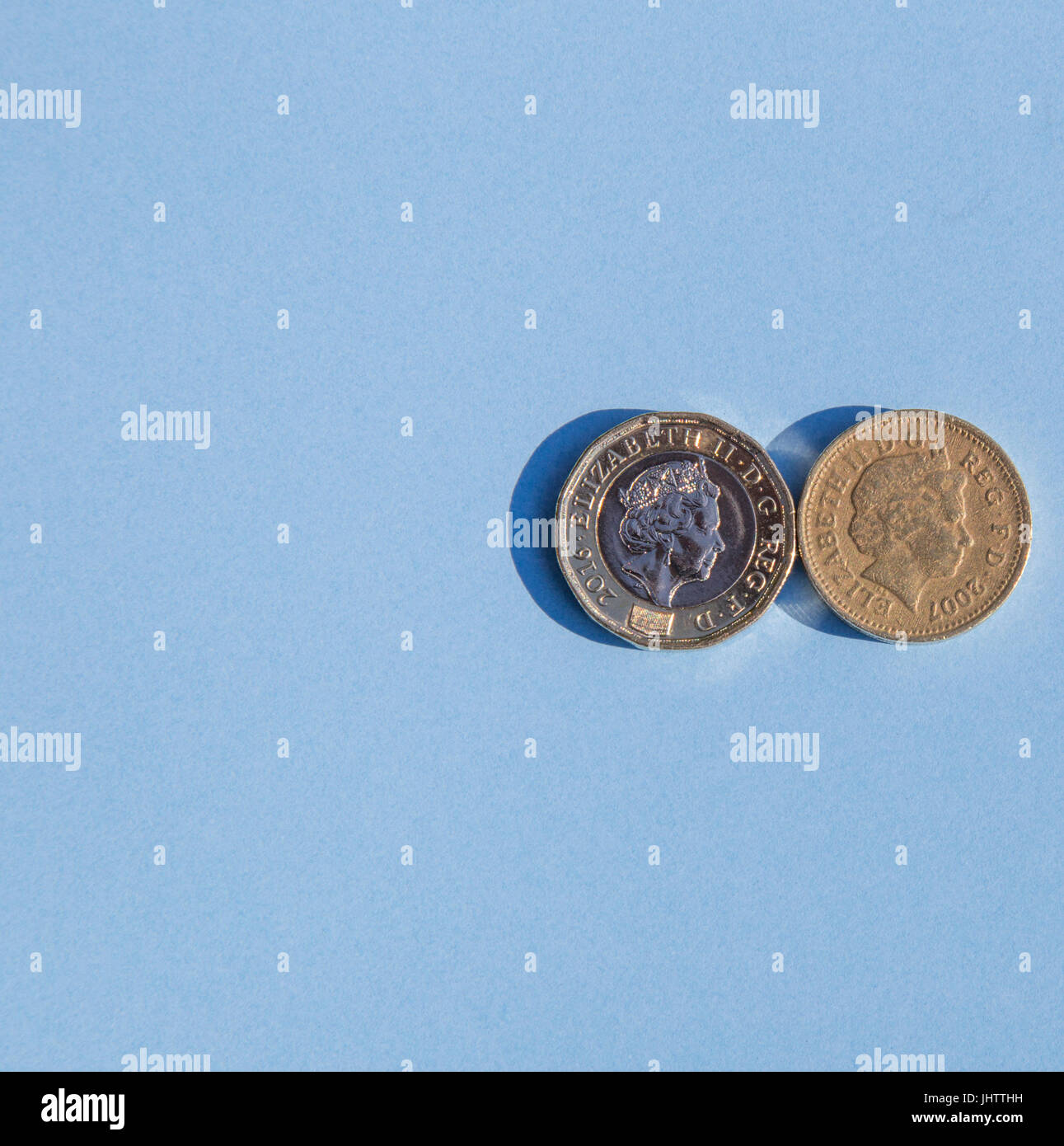 One Pound Coin Old Stockfotos One Pound Coin Old Bilder Alamy