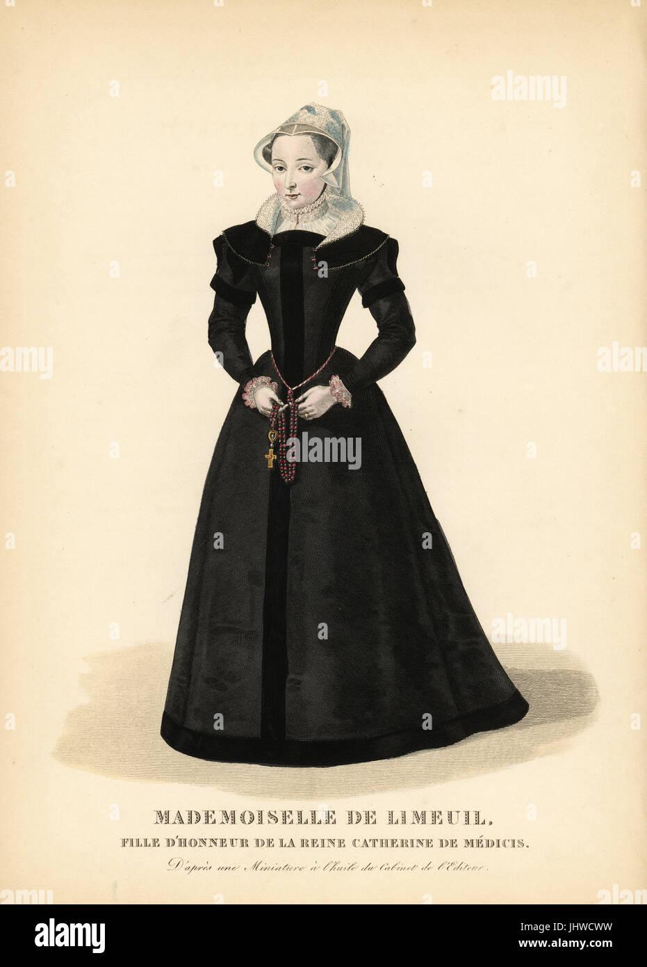 Isabelle de Limeuil, Trauzeugin und Spion für Königin Catherine de Medici von Frankreich, 1535-1609. Sie trägt einen Stockfoto