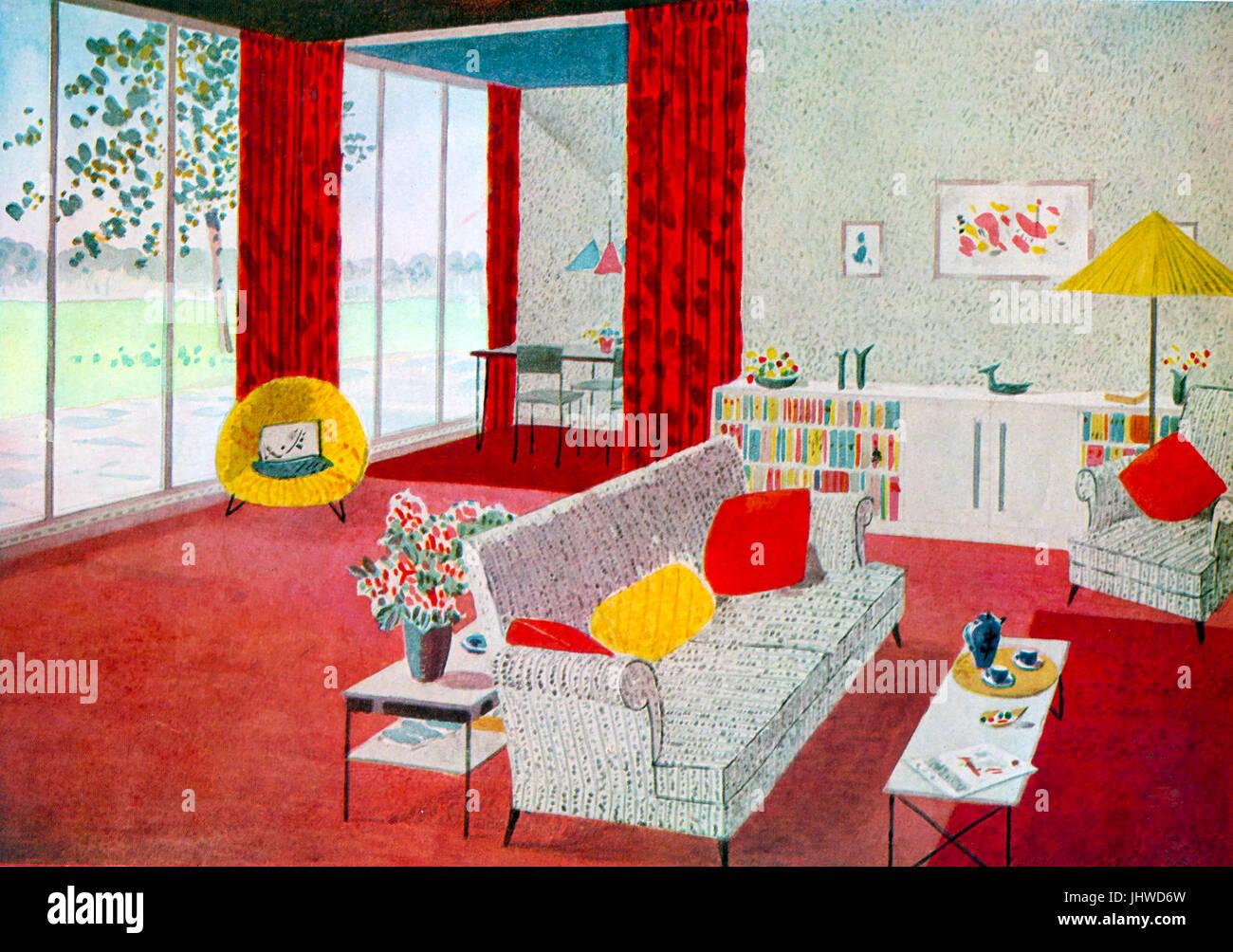 1960s Interior Design Stockfotos & 1960s Interior Design Bilder - Alamy