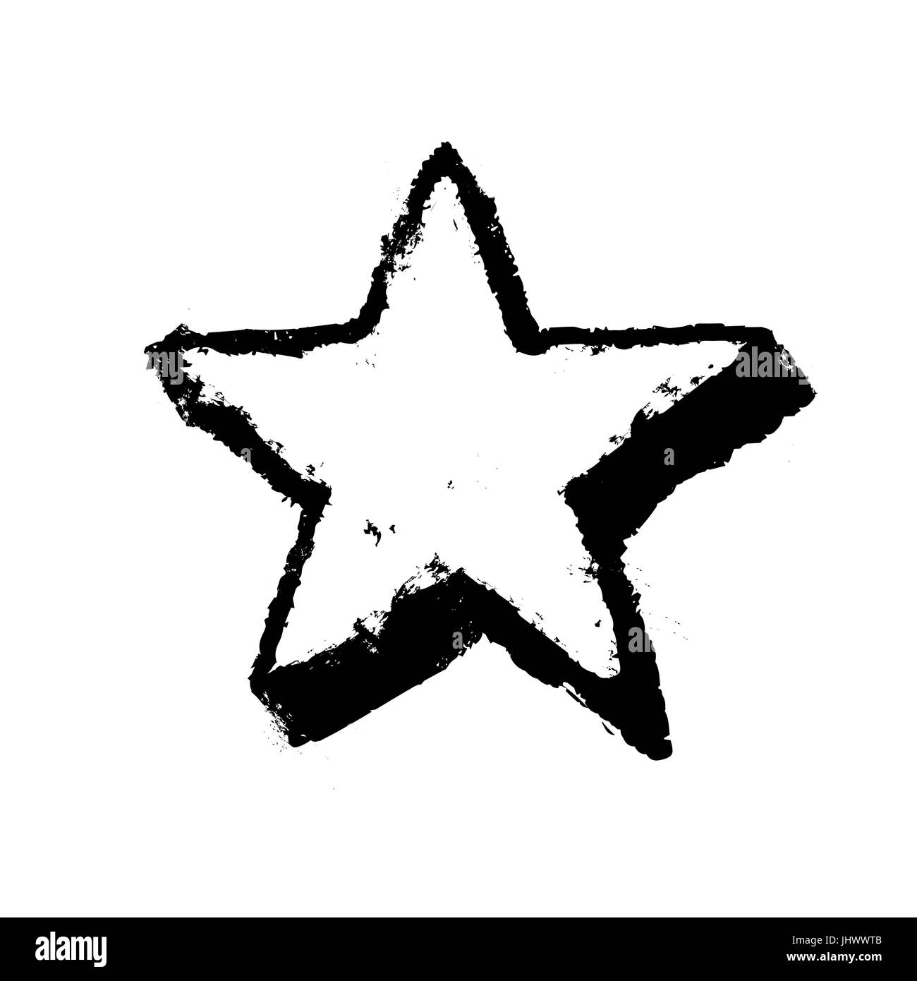 Fünfzackige Sterne Grunge-Symbol. Sterne-Vektor-Illustration ...