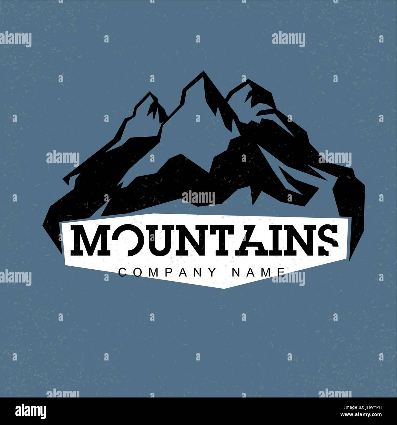 mountains logo template stockfotos mountains logo template bilder alamy. Black Bedroom Furniture Sets. Home Design Ideas