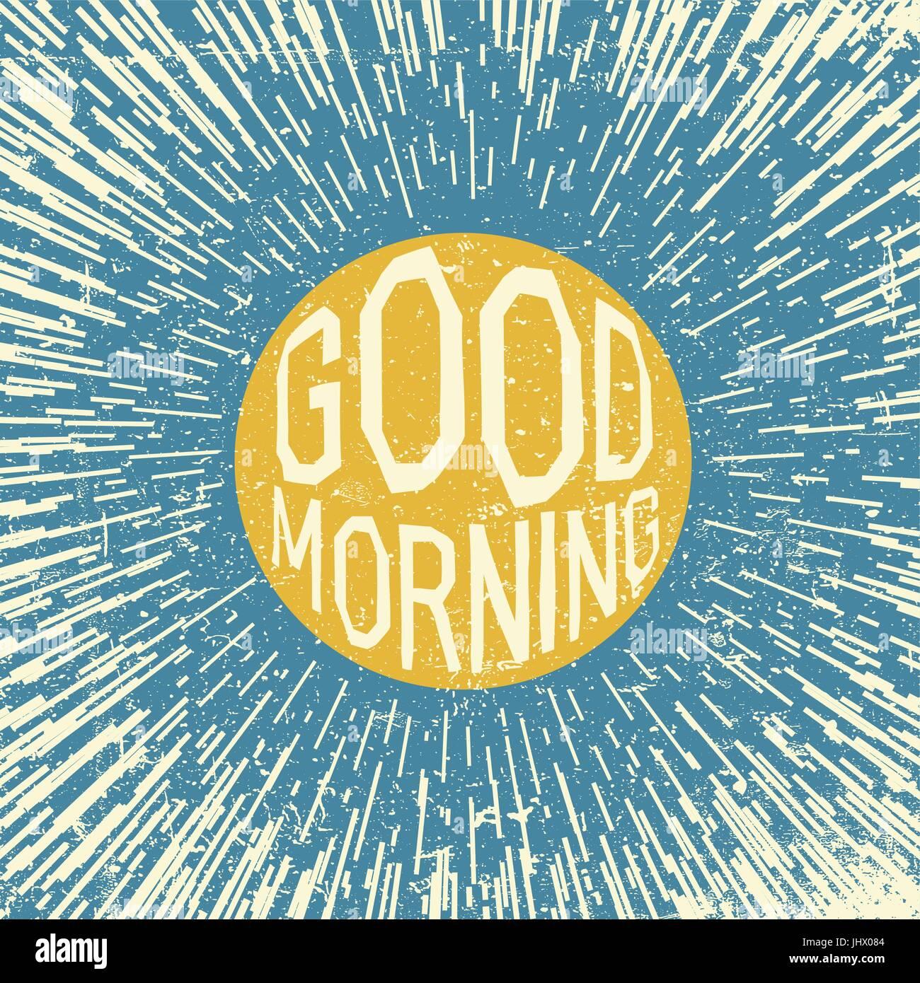 Guten Morgen Inspirierende Angebot Sonnen Symbol Im Blauen Himmel