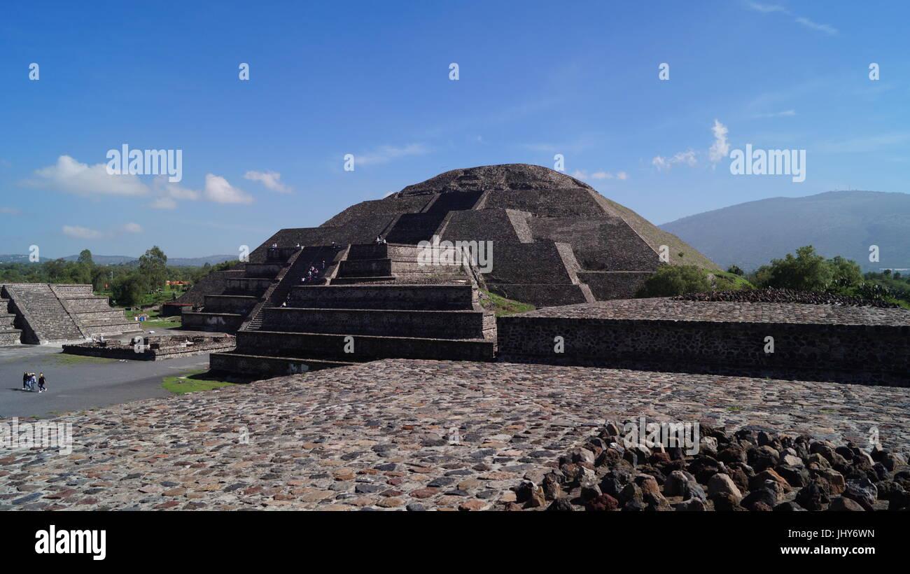 Teotihuacan-Stadt der Götter, schöne mexikanische Kultur und Schönheit-Architektur, die Sie sprachlos machen wird, Stockfoto