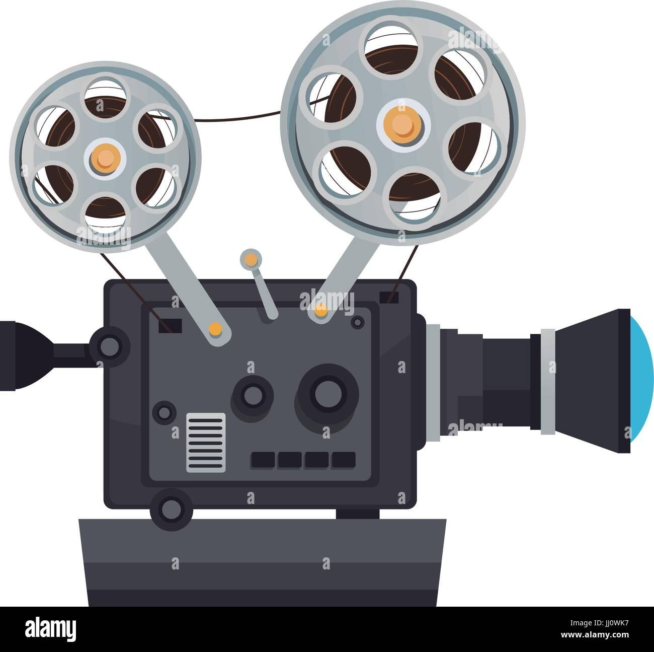 hoch detaillierte Vintage Film Projektor Kino Symbol Stockbild