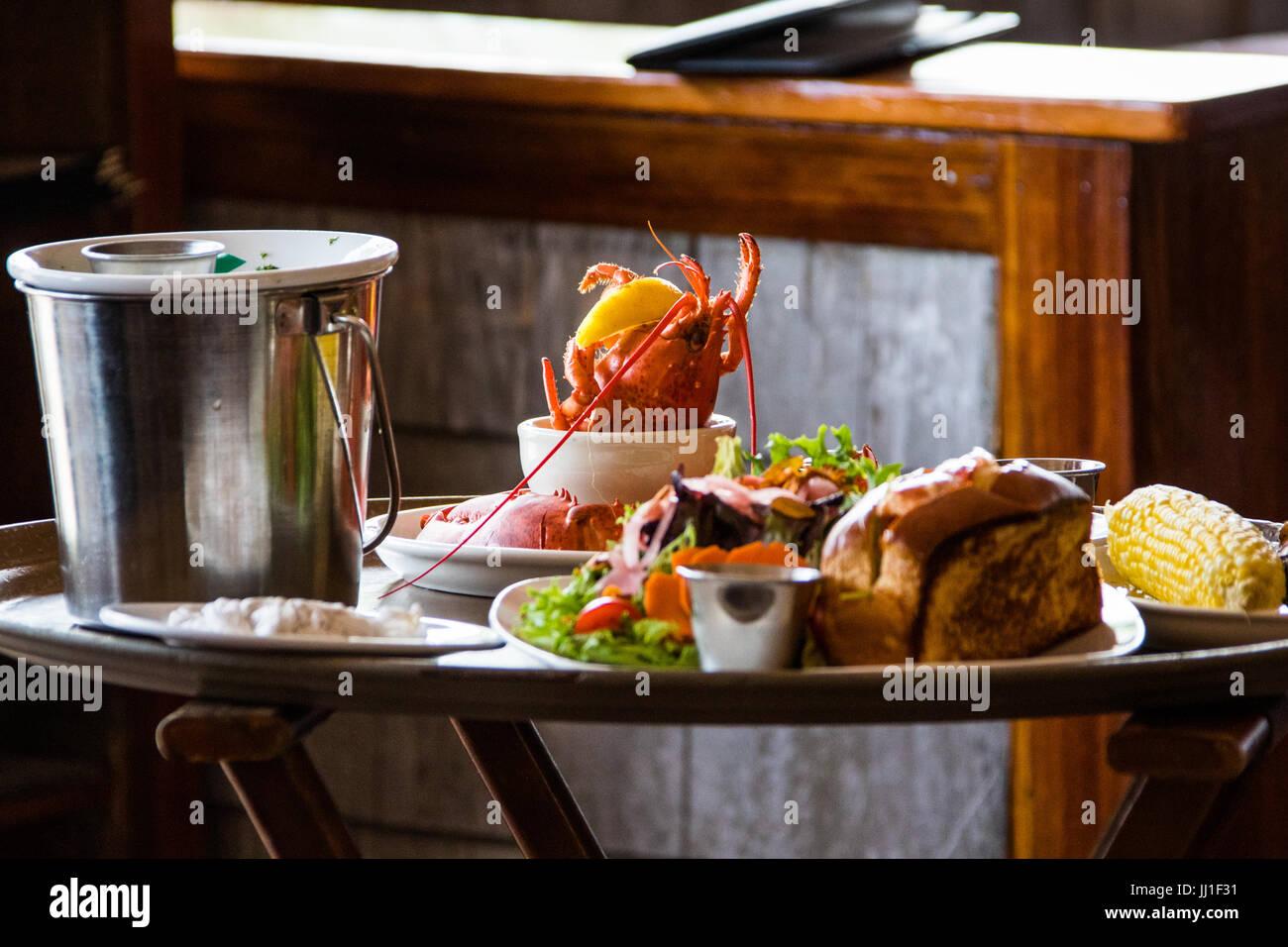 Restaurant Nantucket Lobster Trap, Nantucket, Massachusetts, USA Stockbild