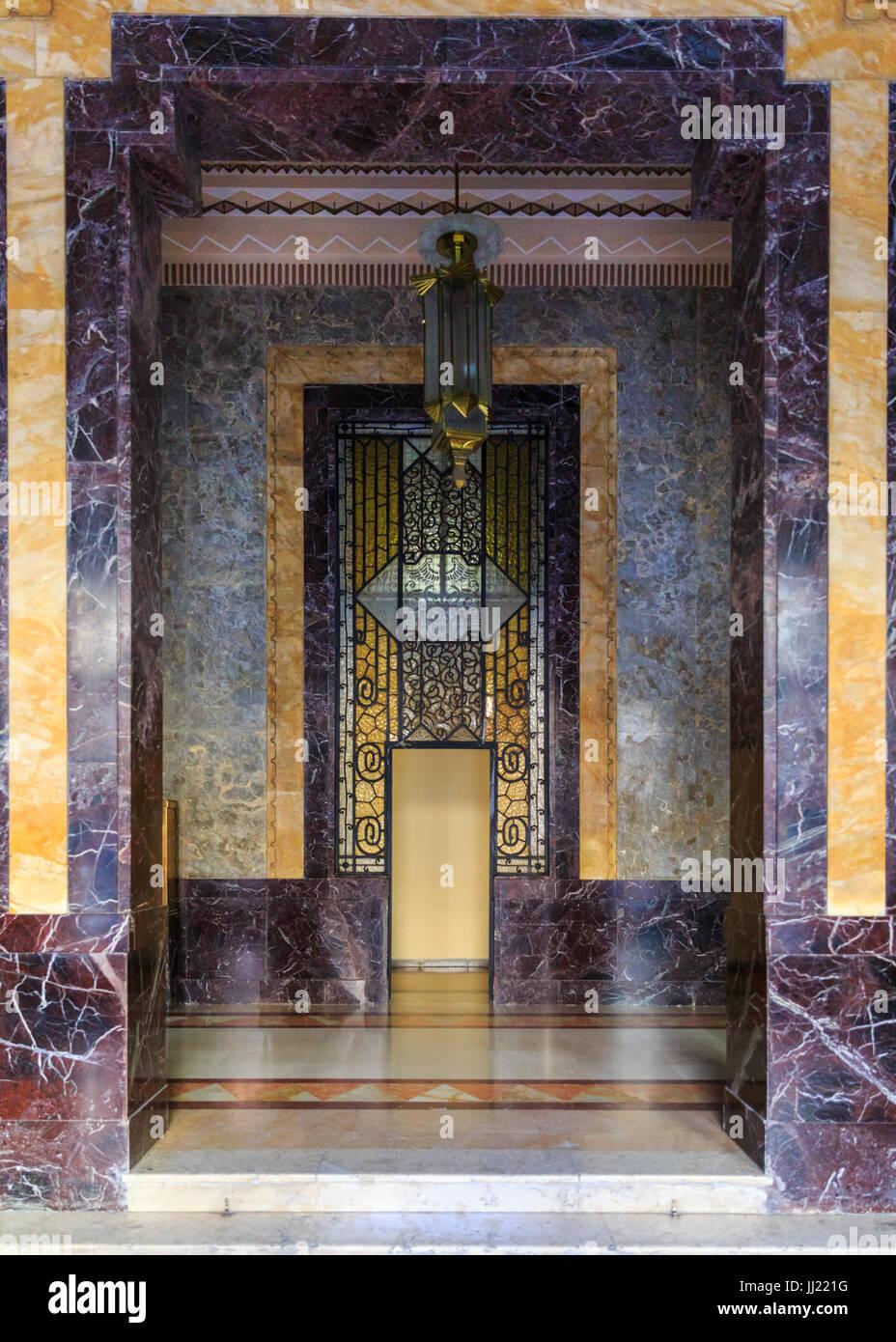 Aufbau von Bacardi, Edificio Bacardi, Interieur, Art-deco-Lobby ...