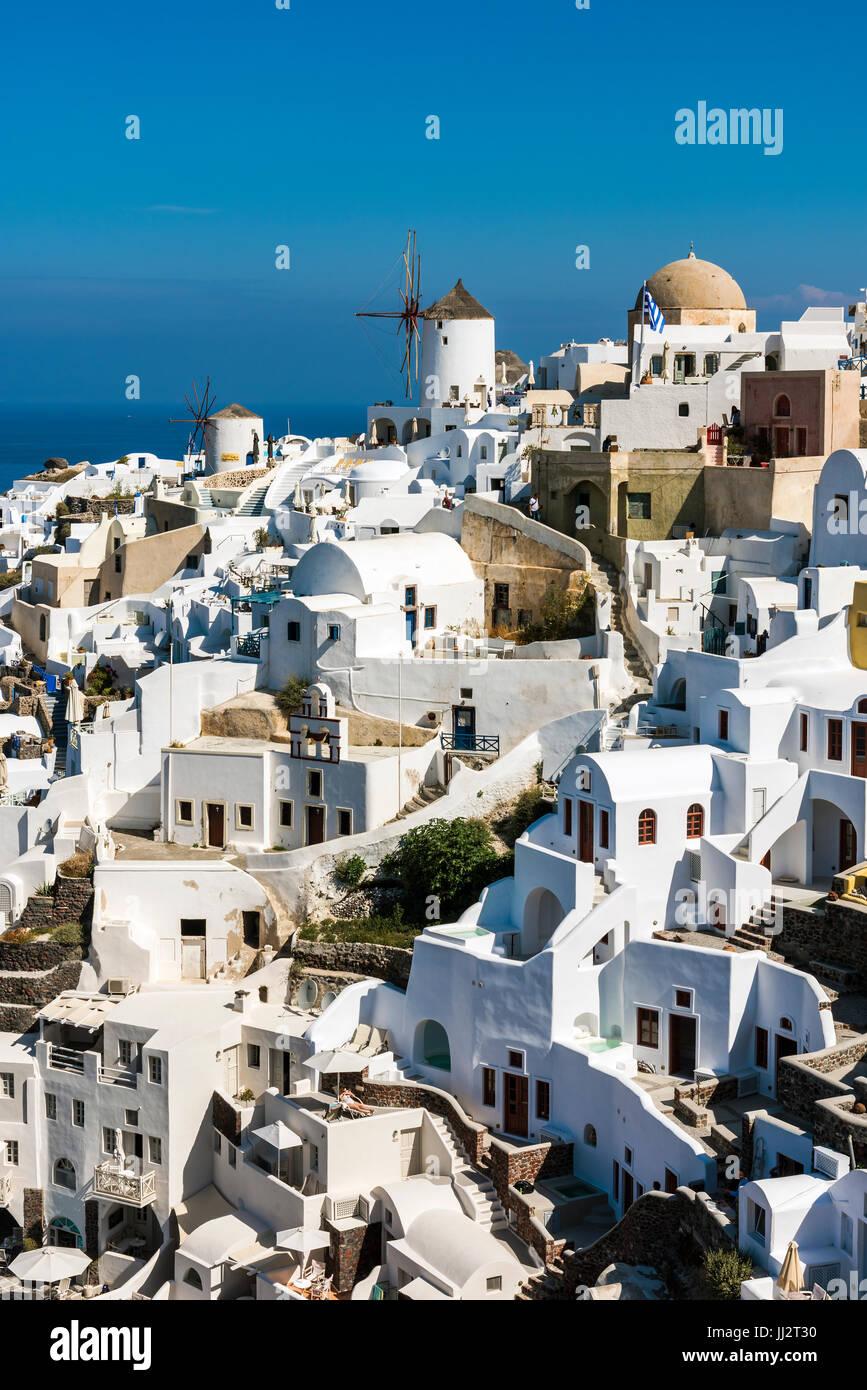 Oia, Santorini, südliche Ägäis, Griechenland Stockbild