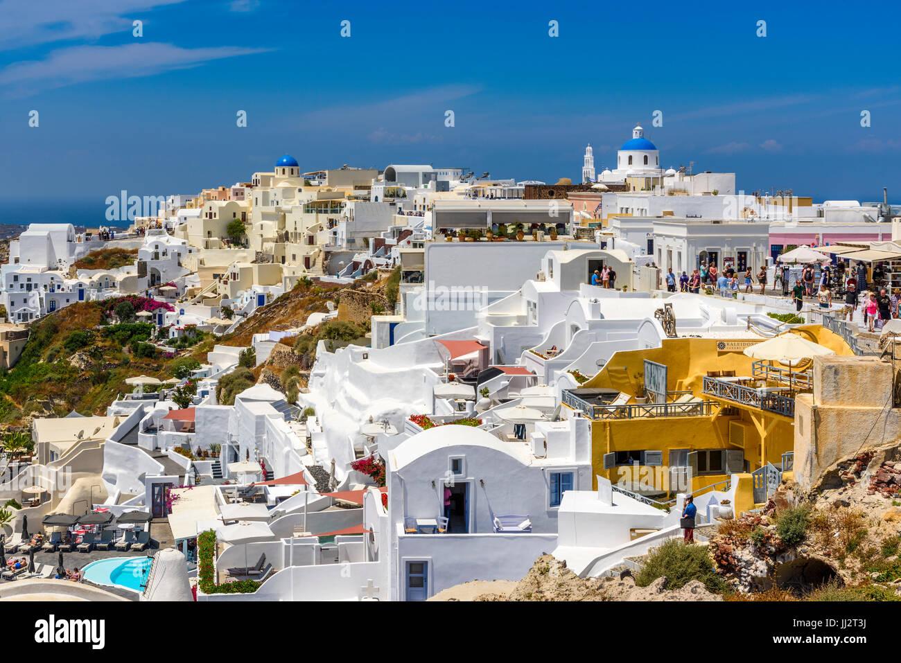 Oia, Santorini, südliche Ägäis, Griechenland Stockfoto