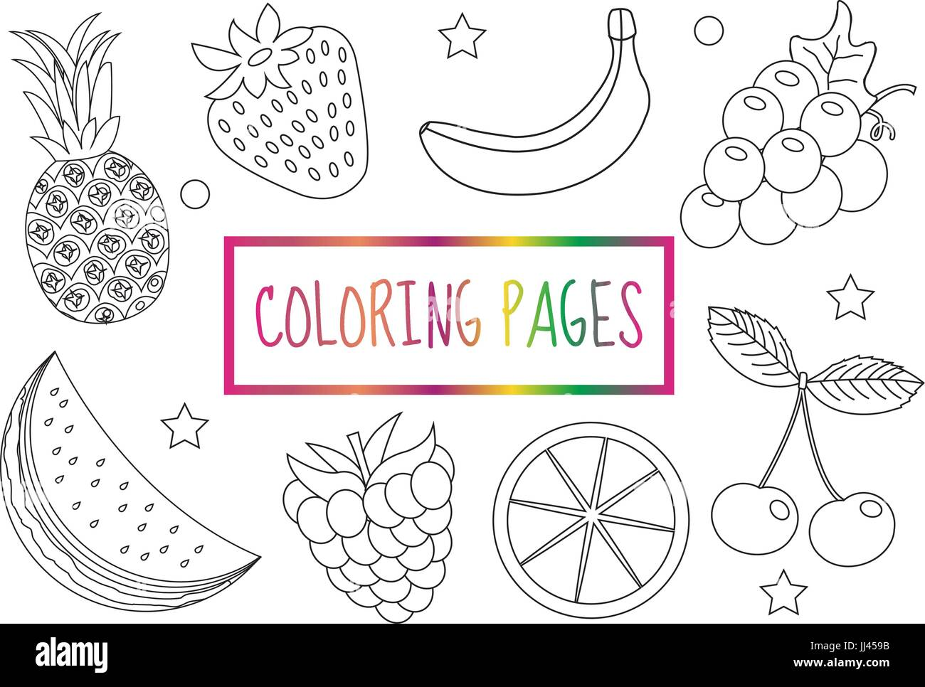 Doodle Fruit Funny Style Stockfotos & Doodle Fruit Funny Style ...