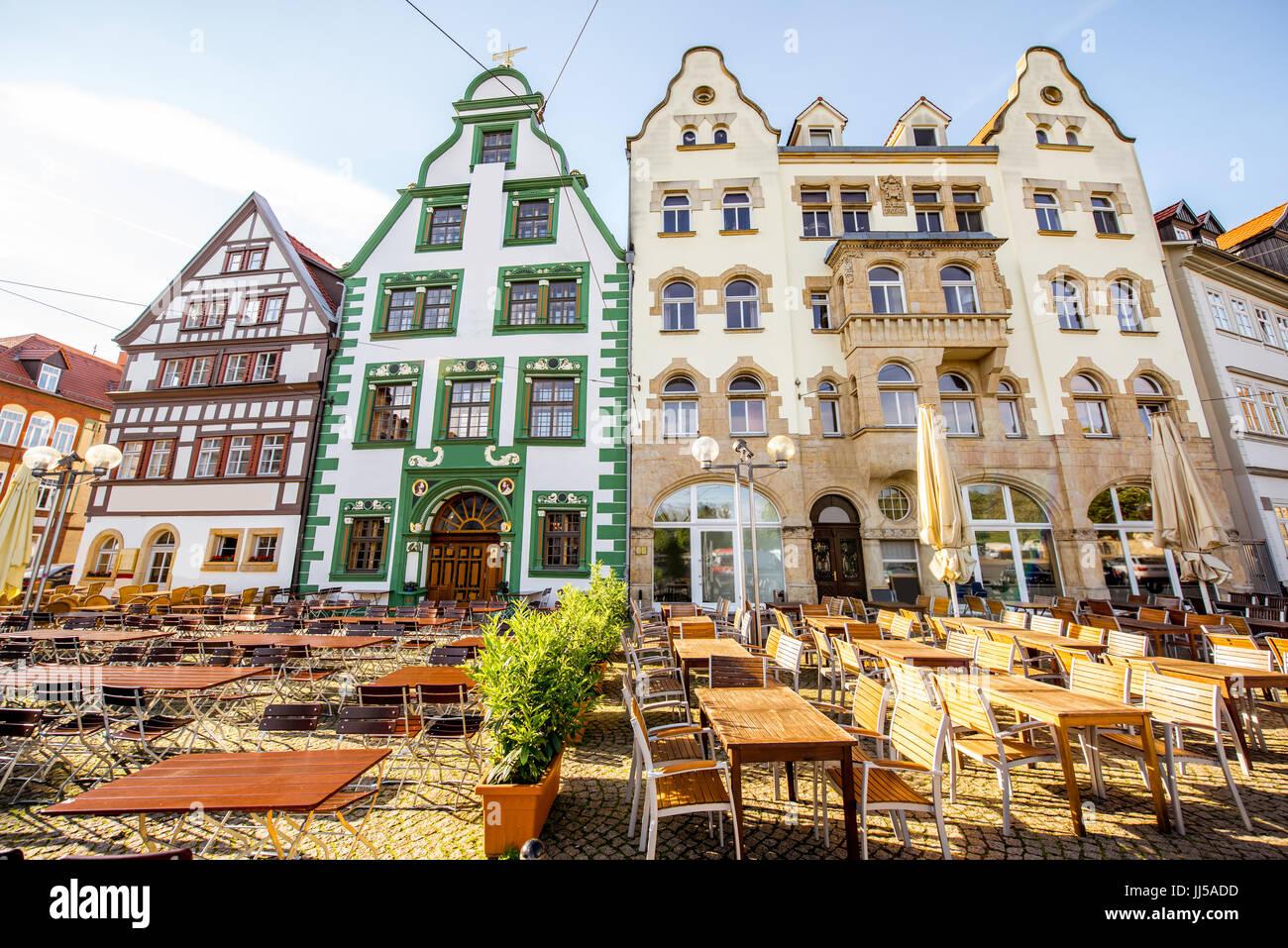 Erfurt-Stadt in Deutschland Stockbild