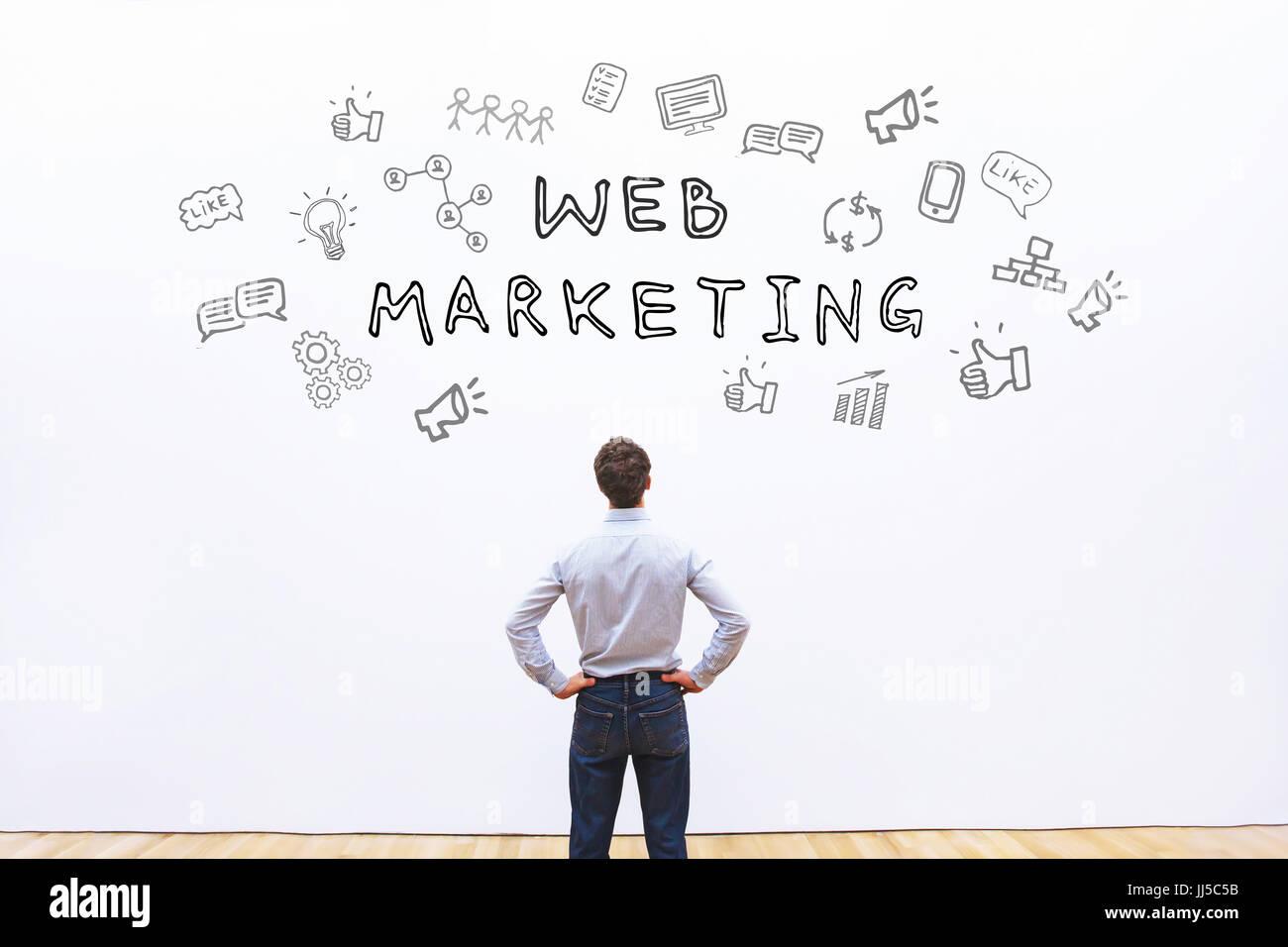 Web-marketing-Konzept Stockfoto