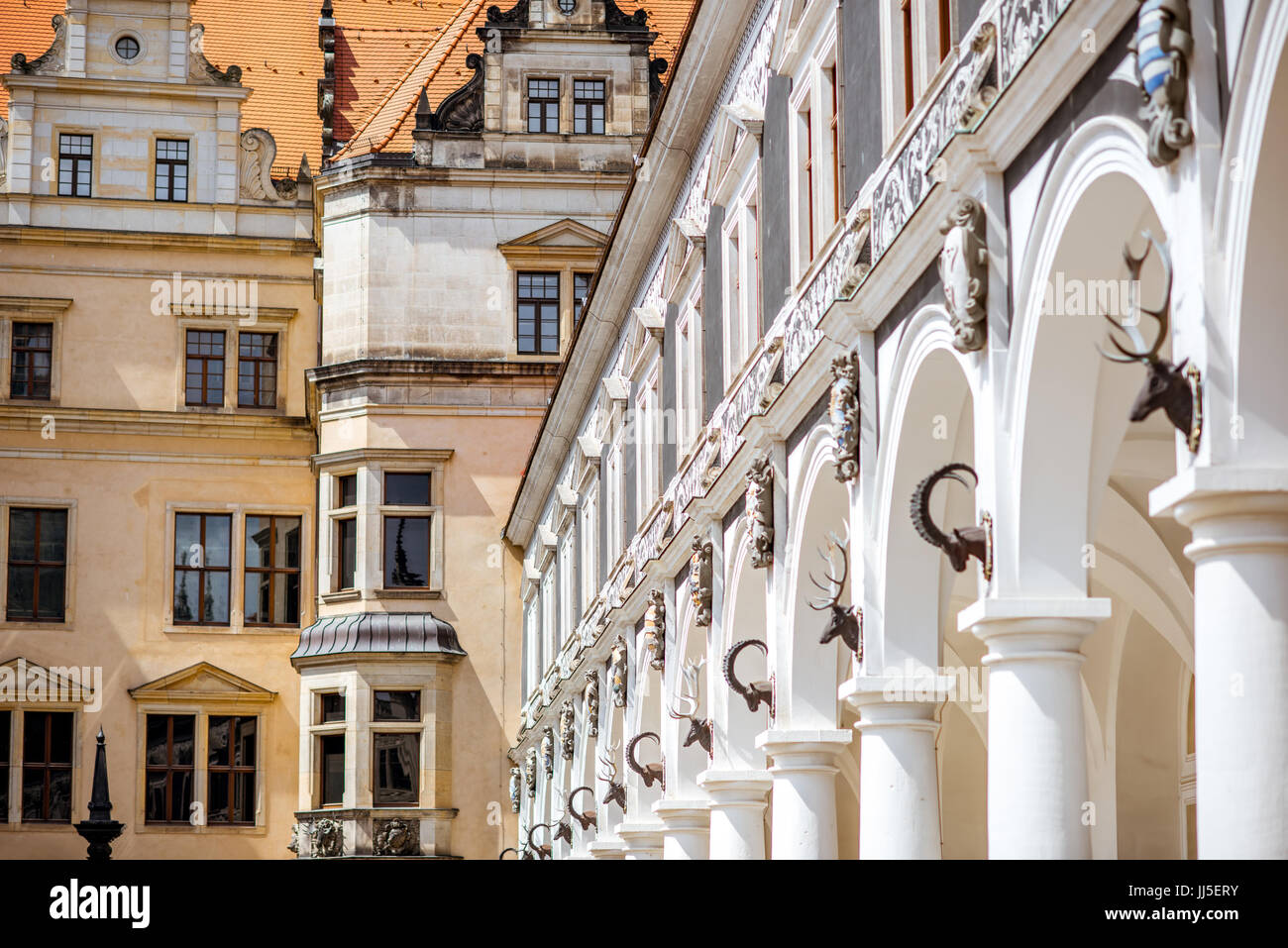Dresden-Stadt in Deutschland Stockbild
