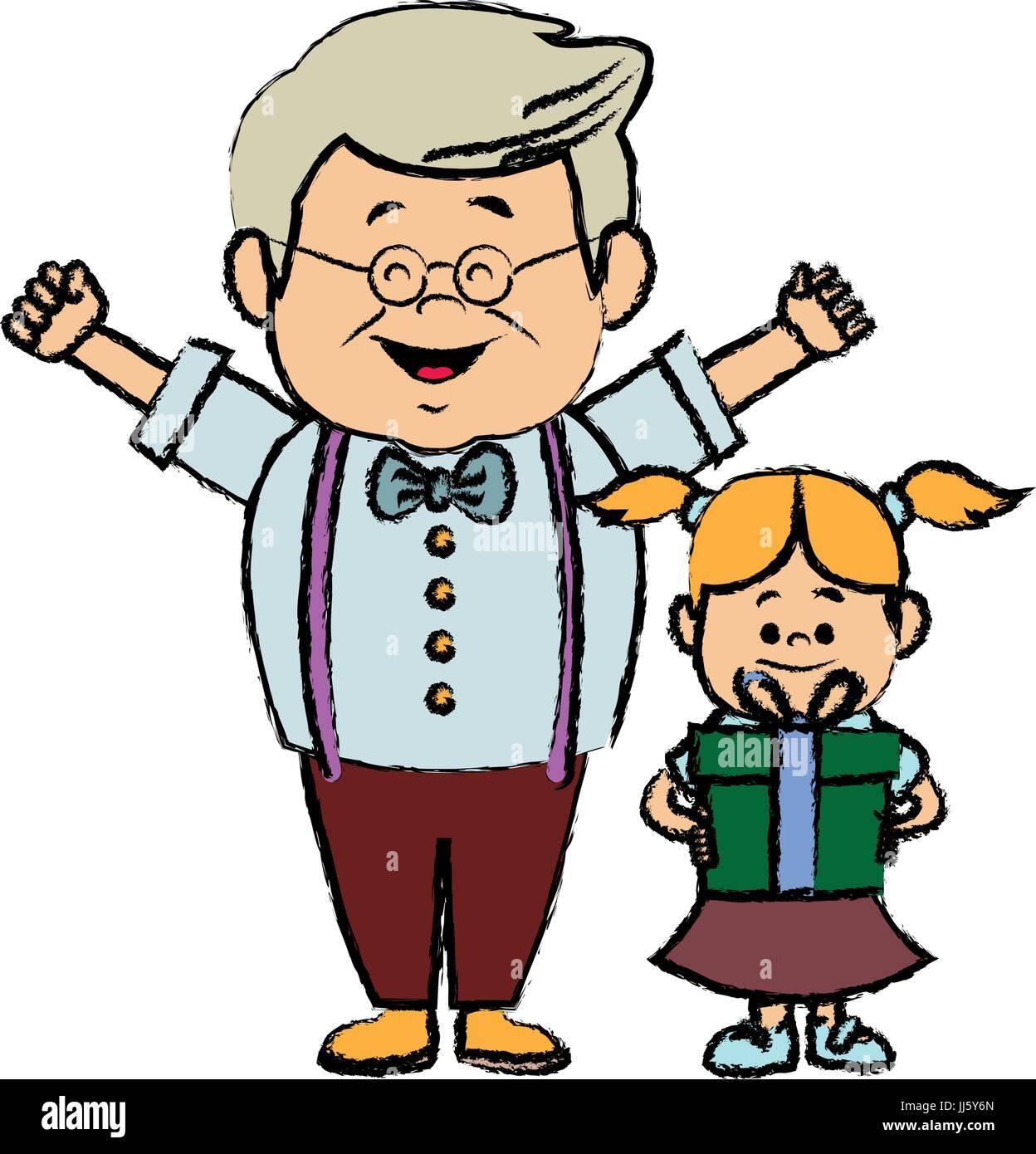 Opa und enkelin