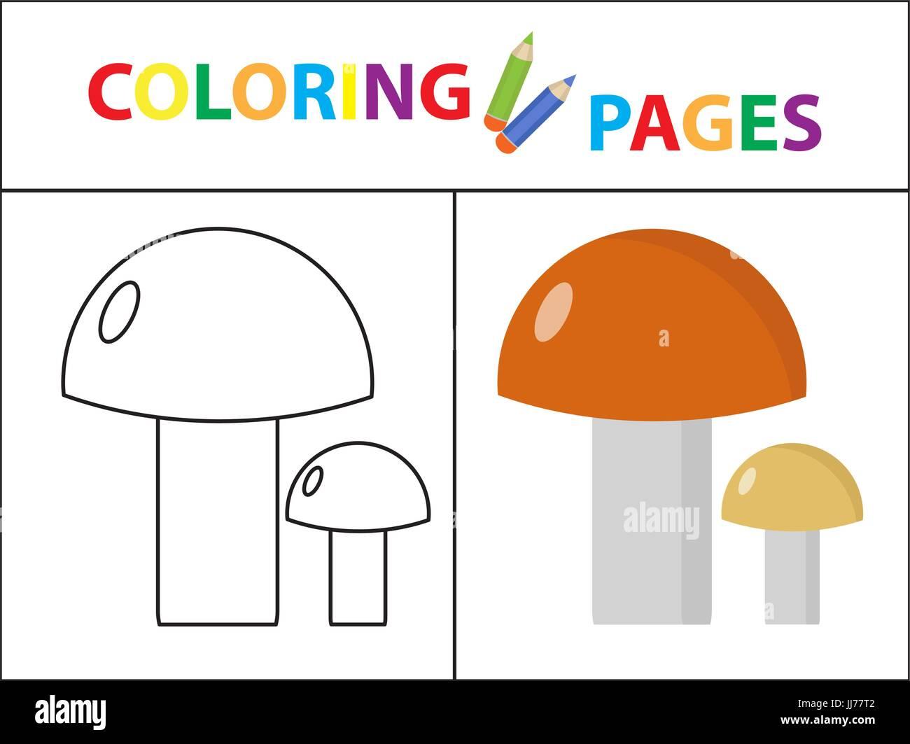 Coloring Book Seite. Skizze Kontur und Farbe Version. Malvorlagen ...