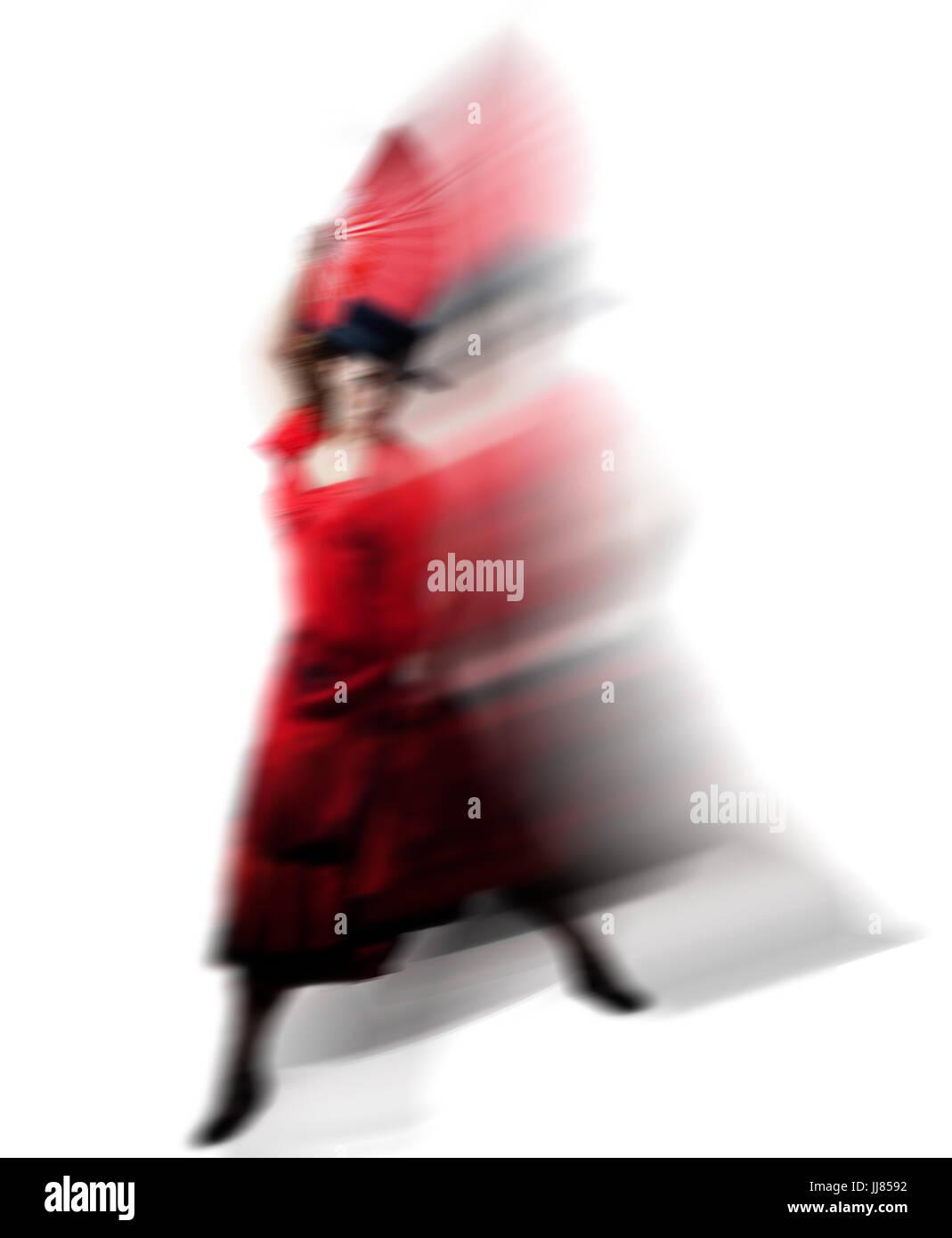 Buch Cover - Let's Dance abstrakt Kunst Flamenco Tanz Stockbild