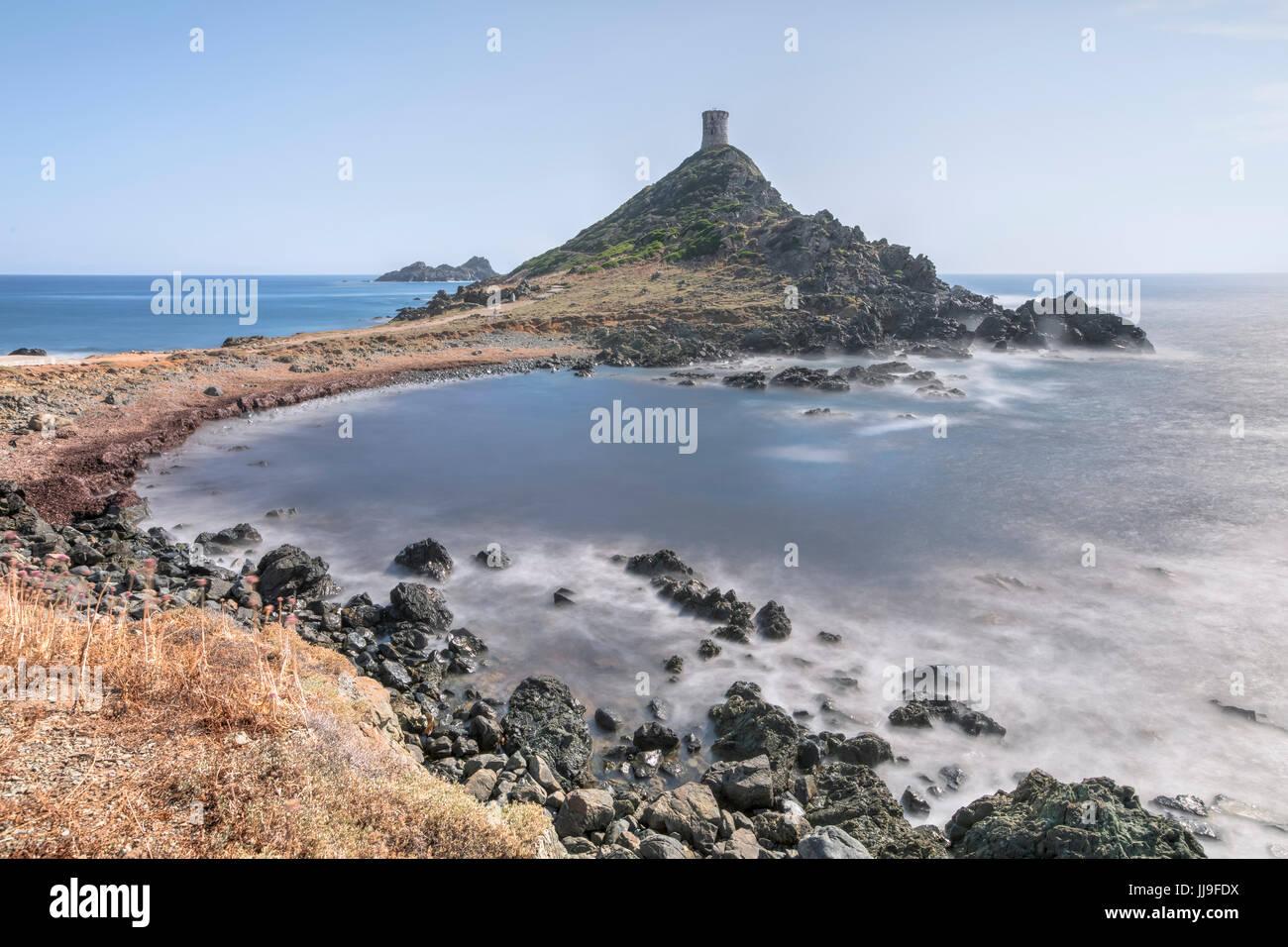 Pointe De La Parata, Iles Sanguinaires, Ajaccio, Korsika, Frankreich Stockbild