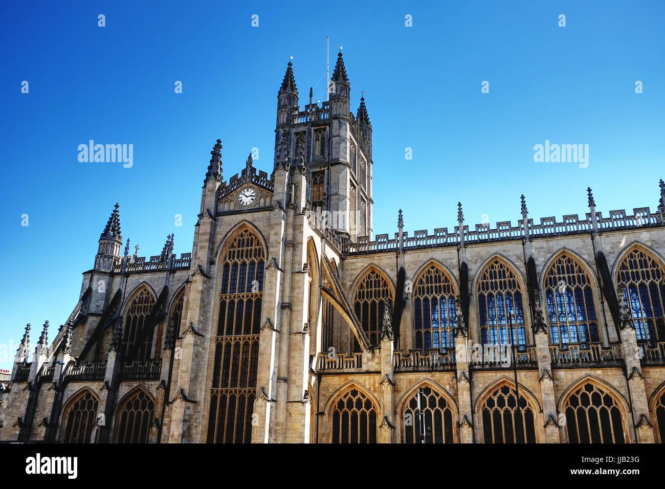 Die Abtei Kirche des Heiligen Petrus und Paulus, Bath, Somerset, UK Stockbild