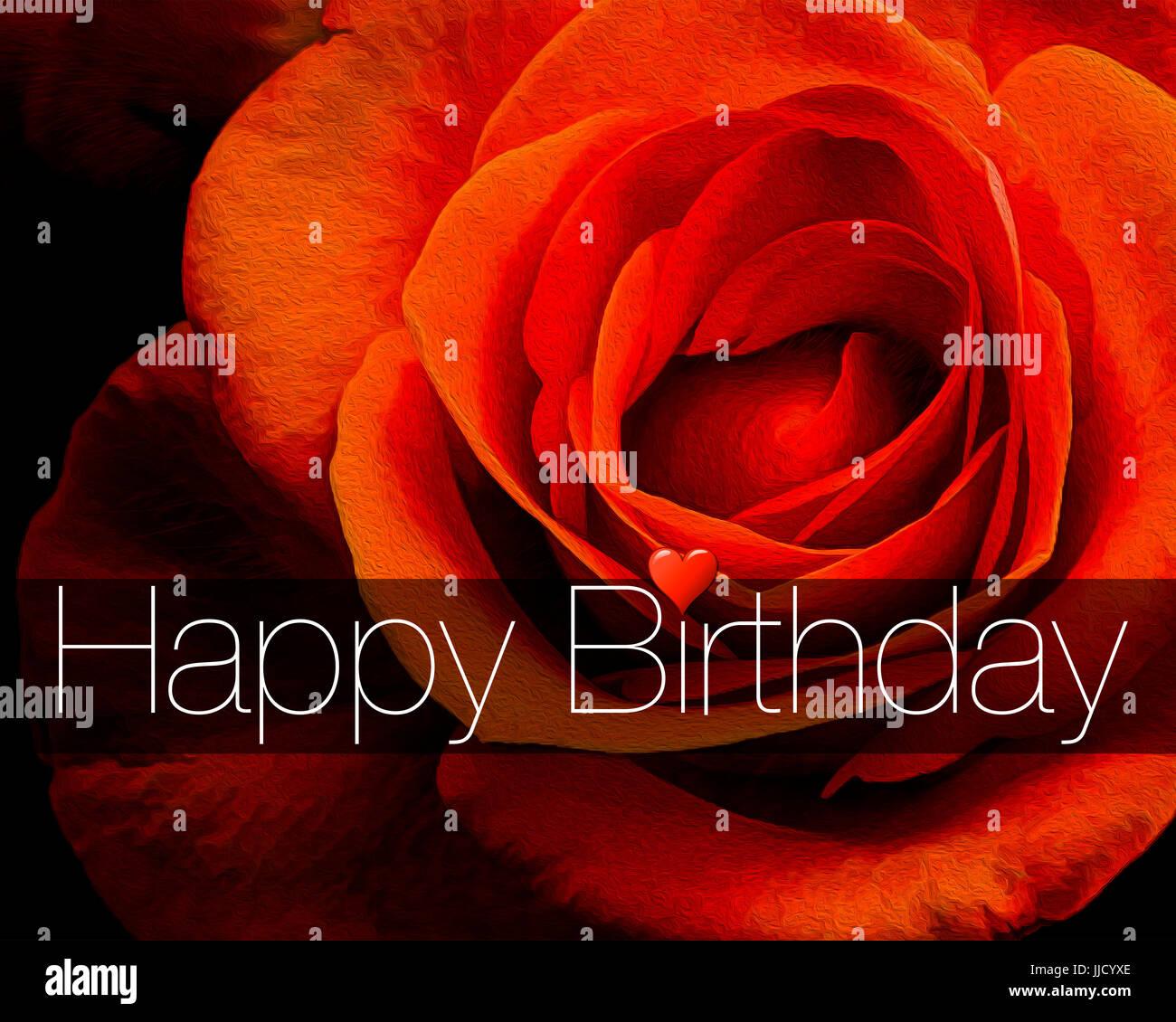 DIGITALE Kunst: Happy Birthday Card Design Stockbild