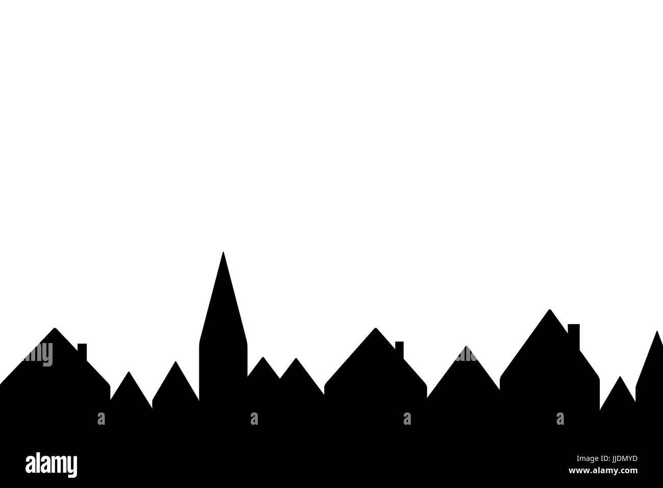 Haus-Silhouetten Stockbild