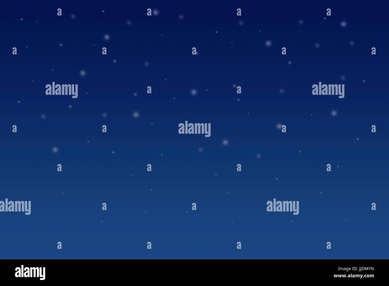 Schneeflocken auf sky Stockbild