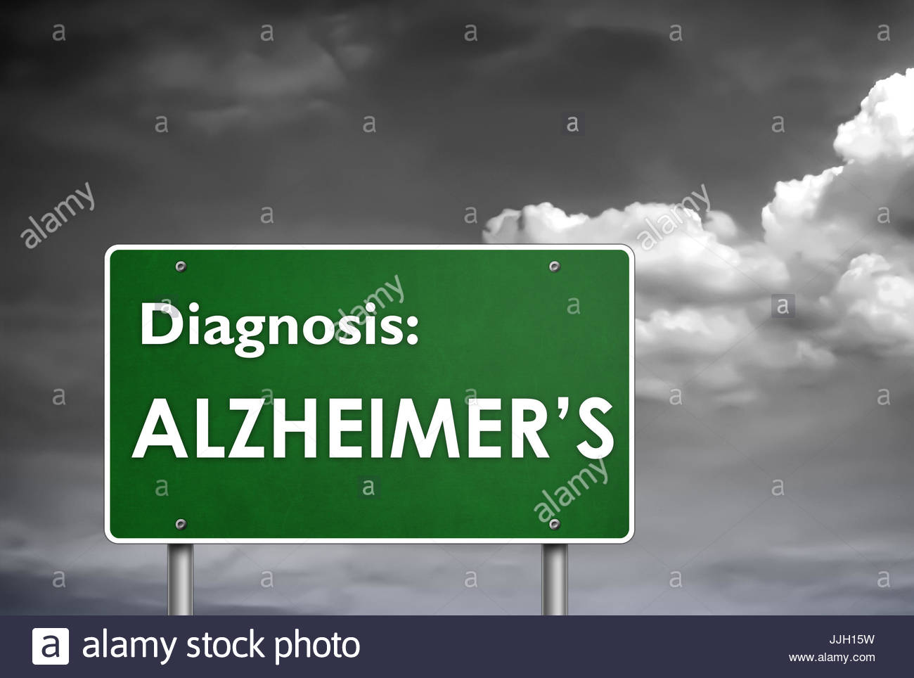Diagnose Alzheimer Stockbild