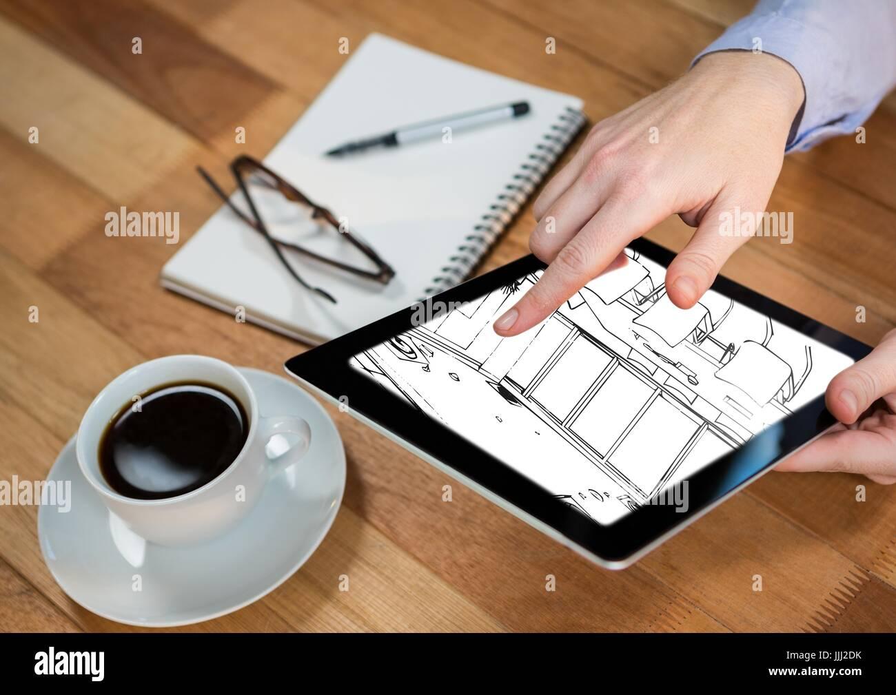 hand plant sketch black stockfotos hand plant sketch black bilder alamy. Black Bedroom Furniture Sets. Home Design Ideas