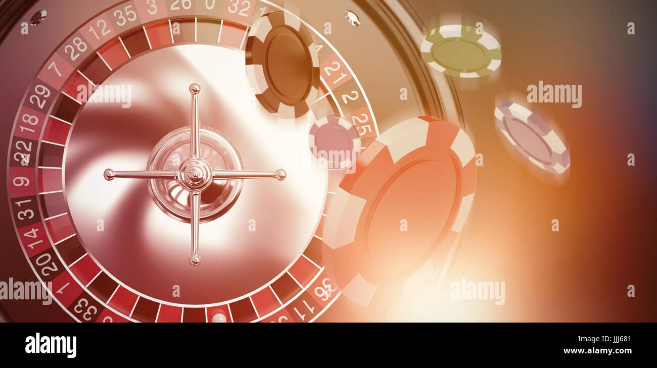 Zusammengesetztes Bild von Vektor-Bild 3d Glücksspiel Chips Stockbild