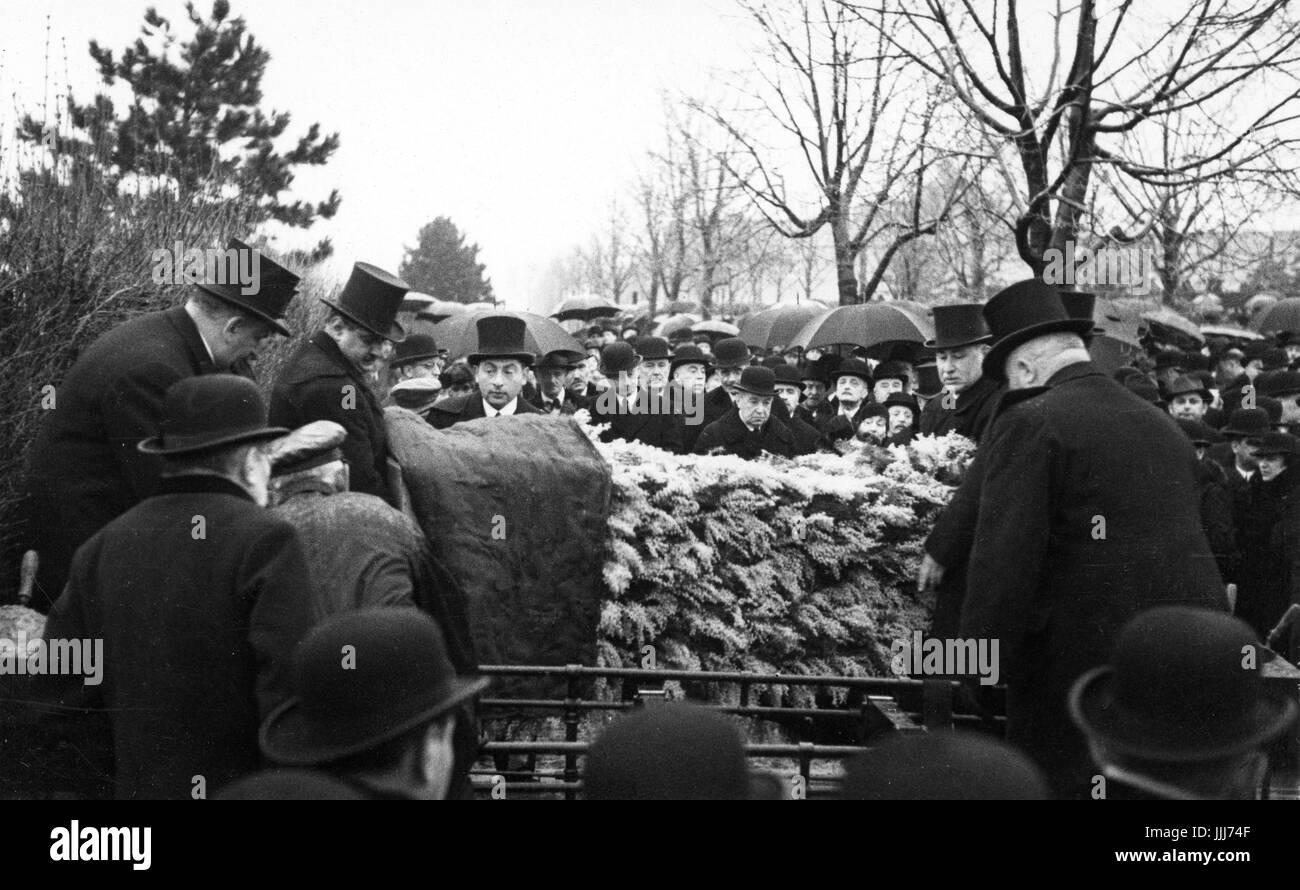 Begräbnis Am Jüdischen Friedhof In Wien C Der 1930er Jahre