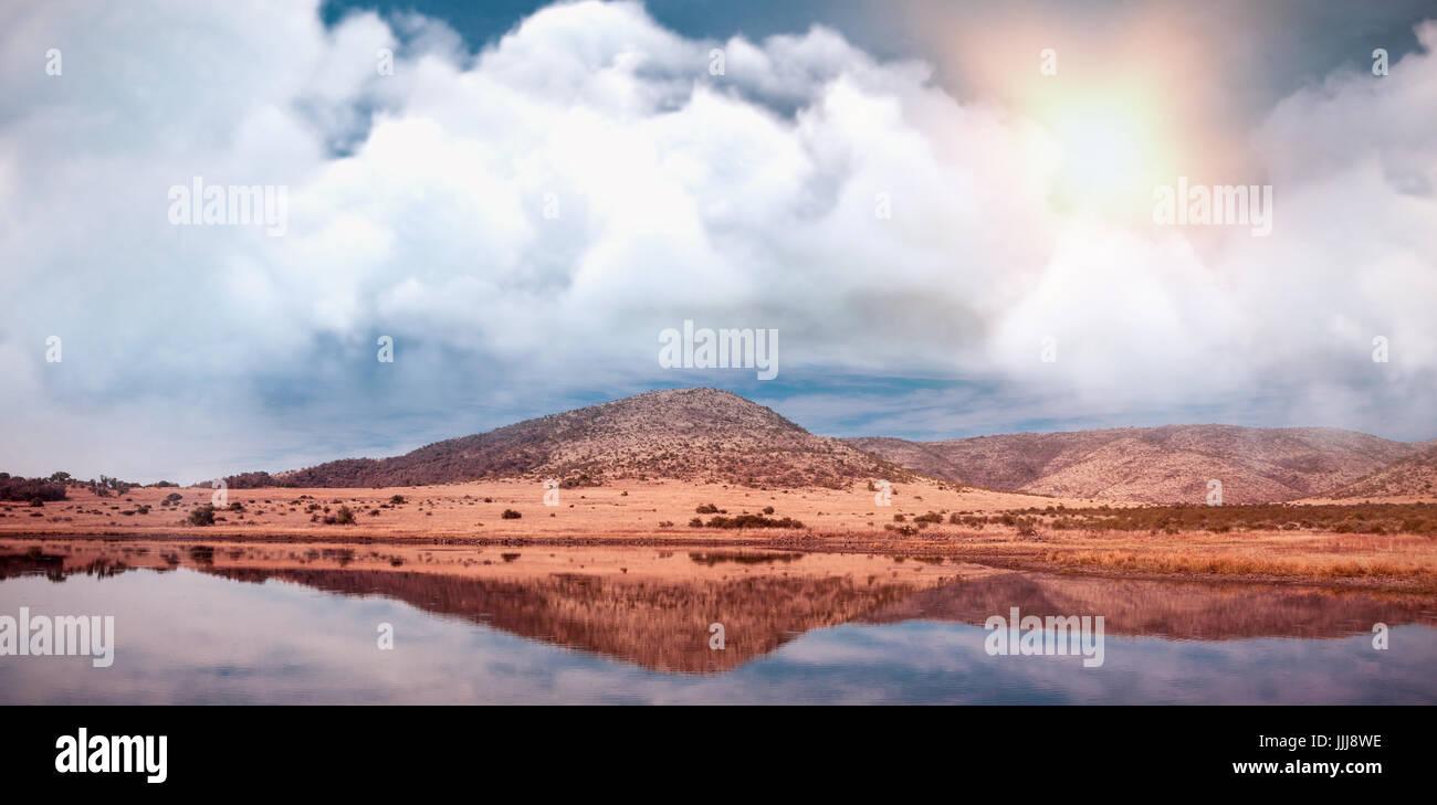 Zusammengesetztes Bild von Vektor-Bild der Wolke Stockbild