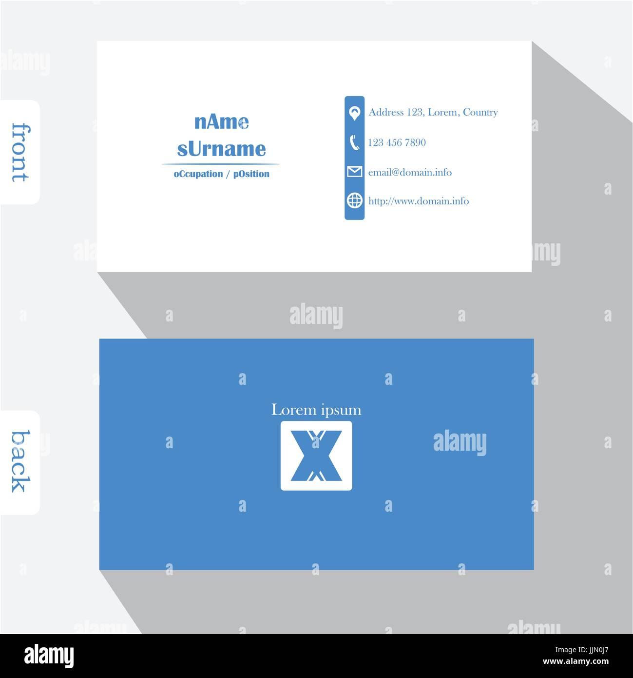 Vektor Design Moderne Kreative Visitenkarte Vorlage Vorder