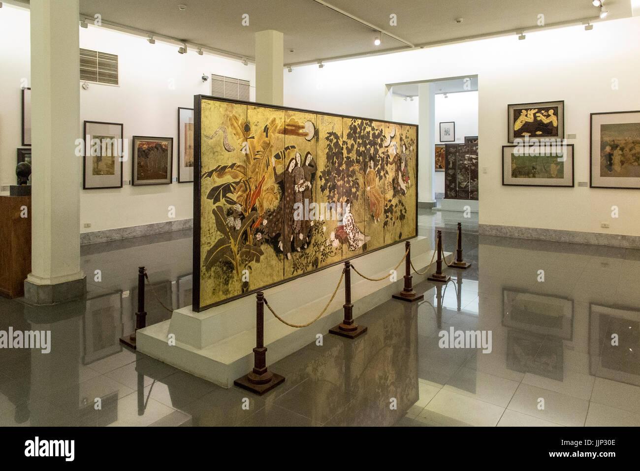 Kunst von Nguyen Gia Tri im Vietnam Museum of Fine Arts in Hanoi Stockbild
