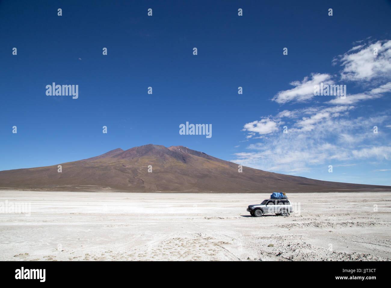 Salar de Uyuni in Bolivien Stockbild