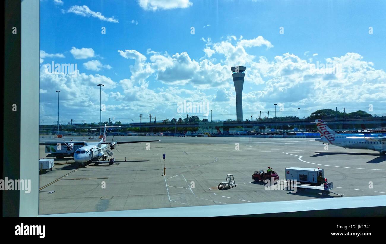 Internationale Reisen, Flughäfen, Ankünfte und Abflüge, Flugzeuge, Luftfahrt, Asphalt Stockbild