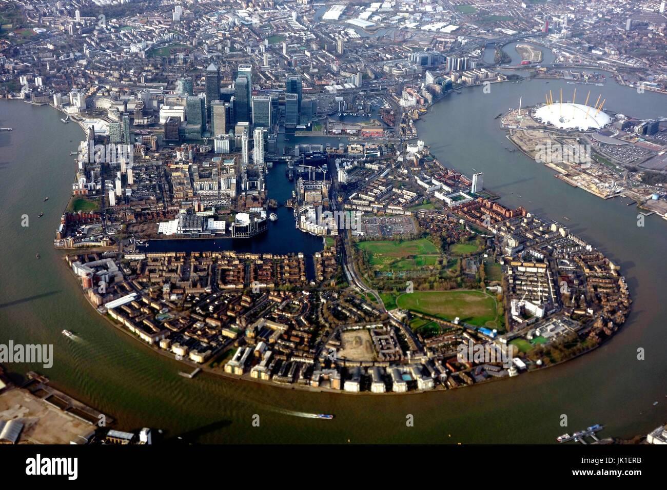Zentrum von London aus der Luft Stockbild