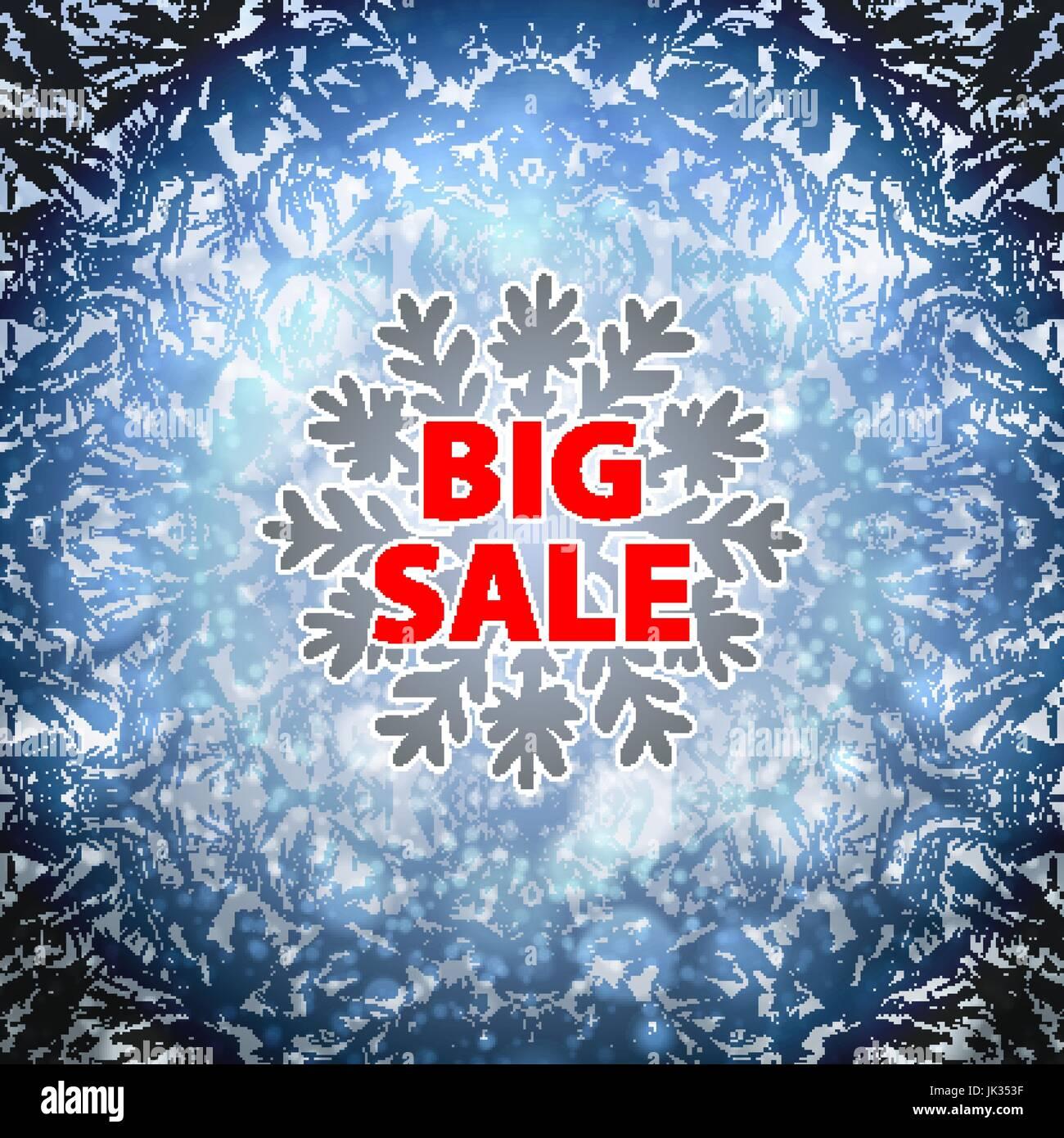 Schnee und Winter Verkauf Hintergrund Banner. Ausverkauf ...