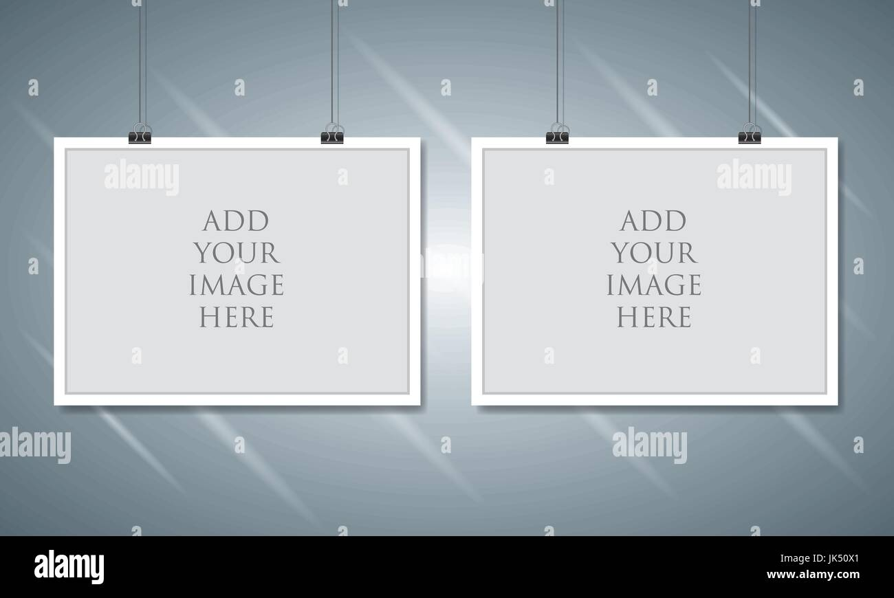 Paper Clip Frame Vector Stockfotos & Paper Clip Frame Vector Bilder ...