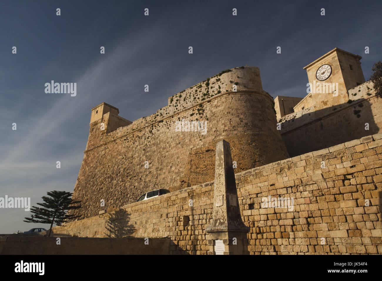 Malta, Insel Gozo, Victoria-Rabat, Il-Kastell Festung, außen Stockbild