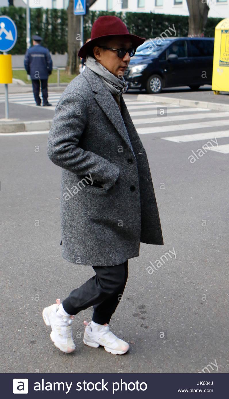 Giorgio Gast. Street-Style vor der Teilnahme an von Dane Stevens und ...