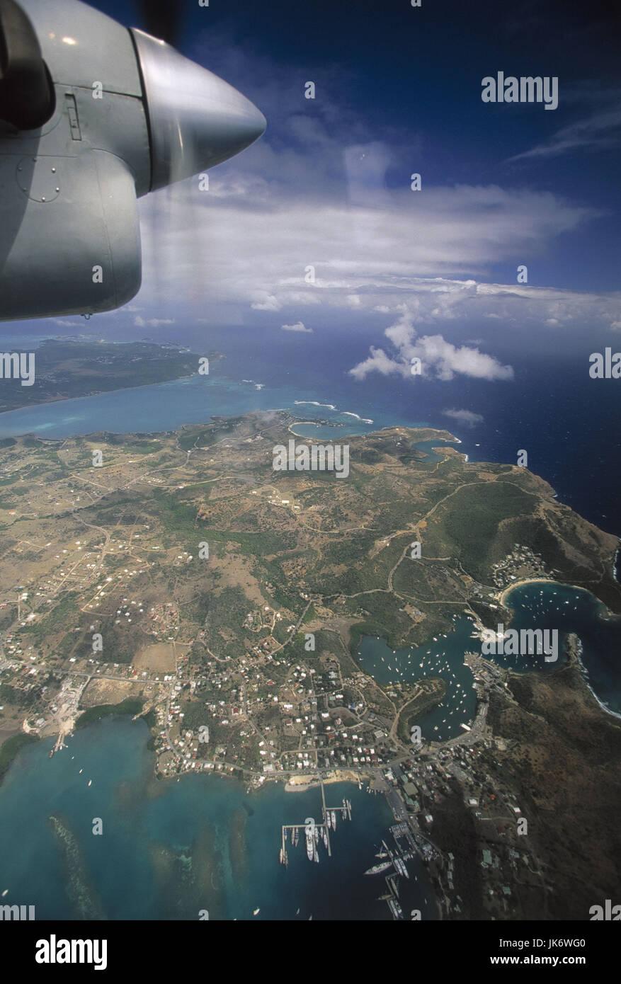 Karibik, Kleine Antillen, Antigua, Nelsons Dockyard, Luftaufnahme ...