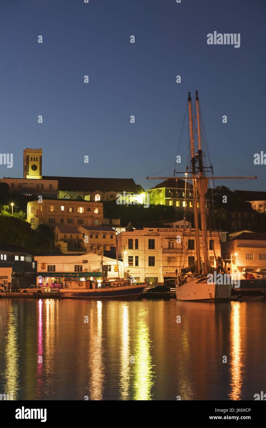 Grenada, St, Georges, Stadtansicht, St. George\'s Hafen, Schiffe ...